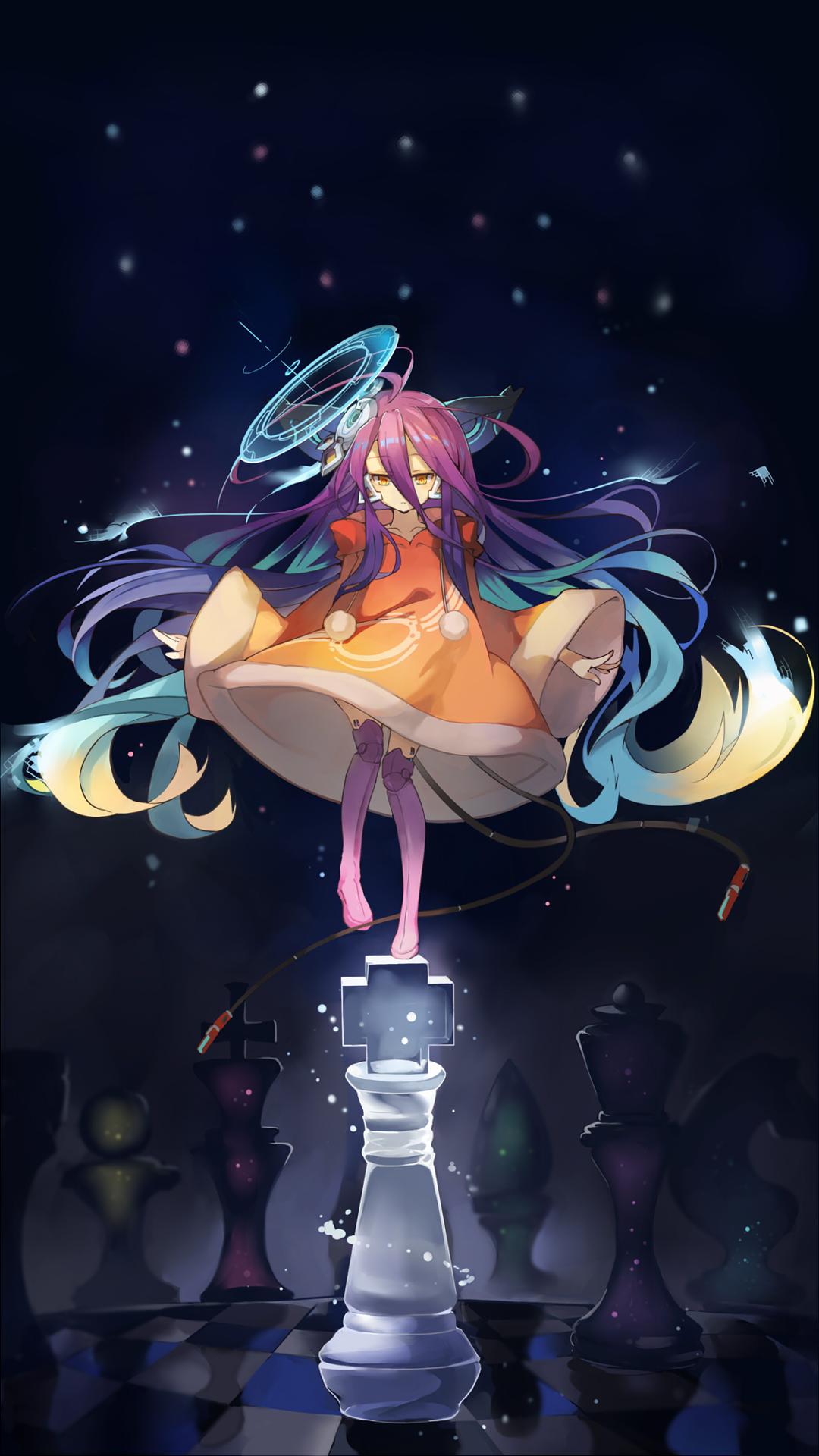 Anime 1080x1920 anime anime girls No Game No Life chess stars machine vertical