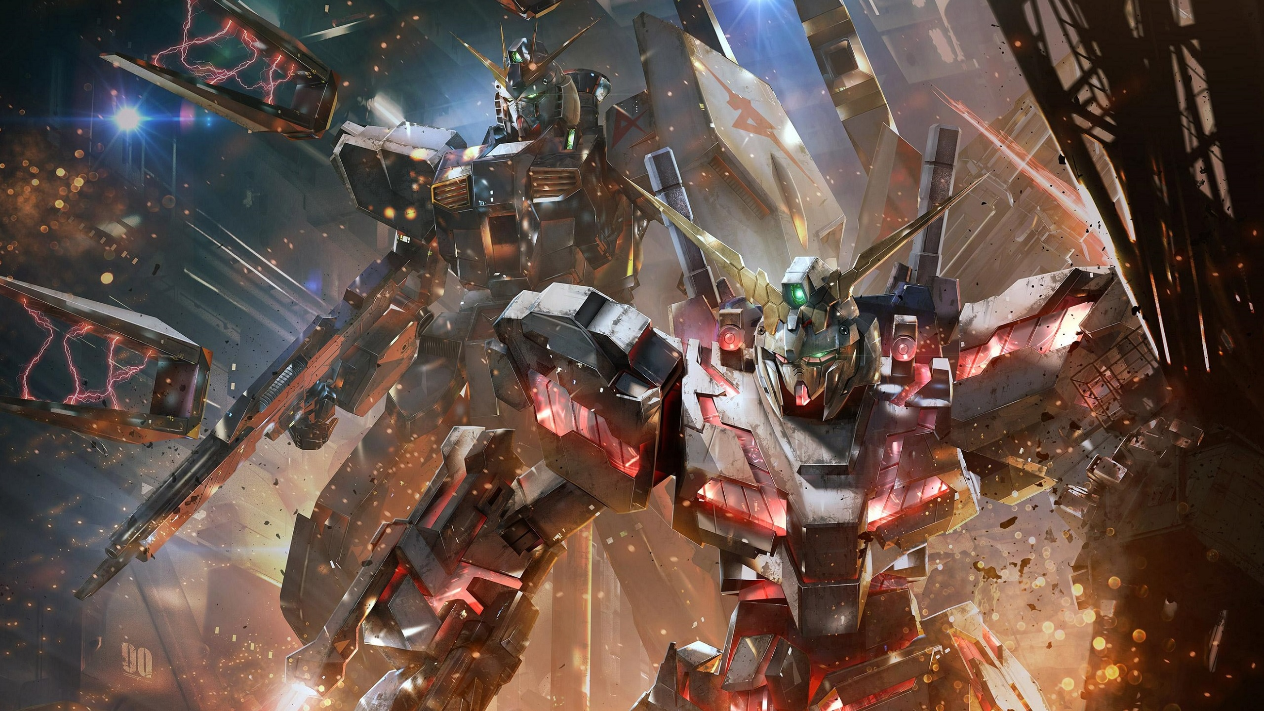 General 2560x1440 Mobile Suit Gundam Unicorn Gundam anime mech Mobile Suit robot artwork digital art Gundam Versus