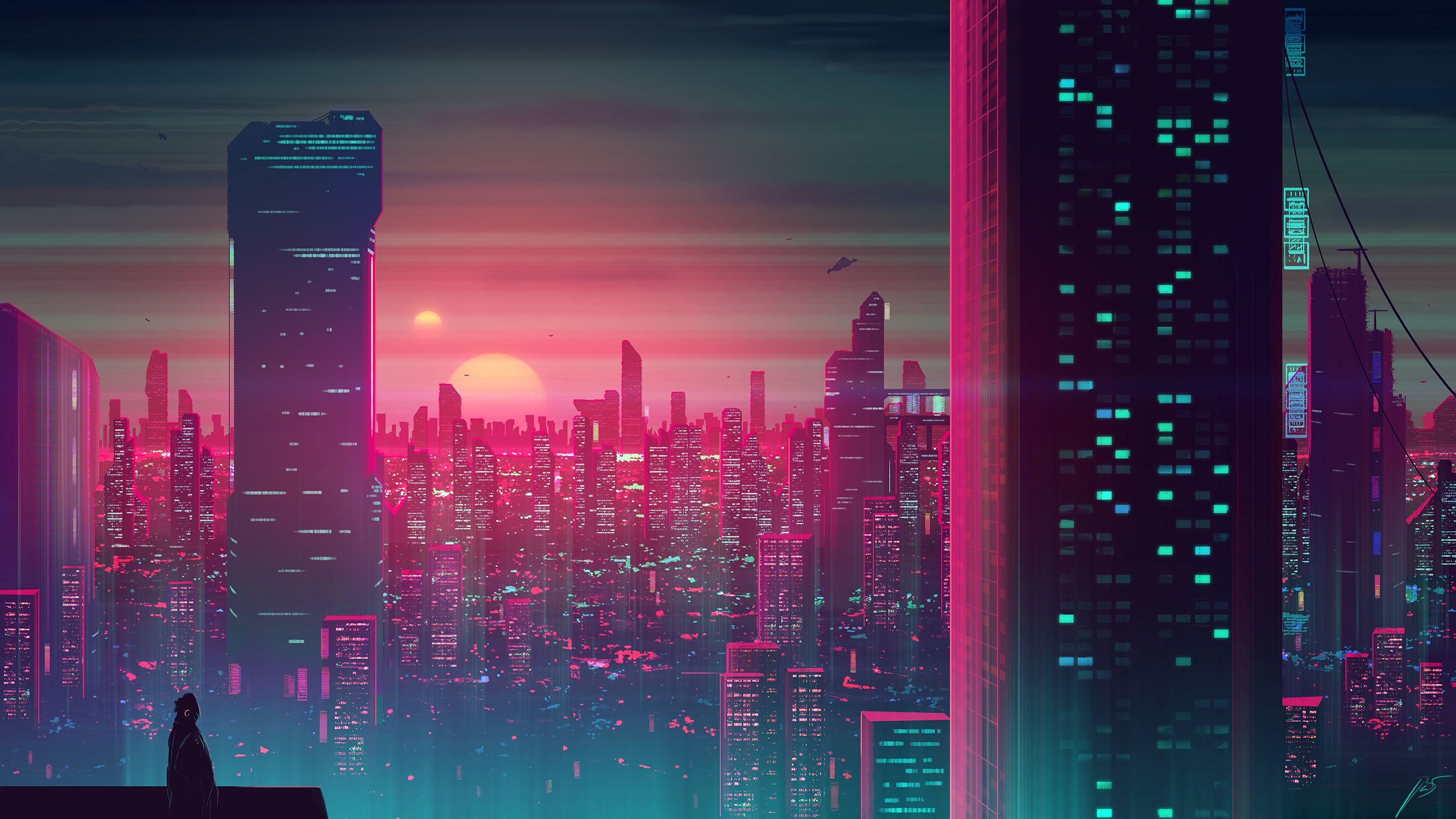 General 2560x1440 futuristic science fiction skyscraper JoeyJazz