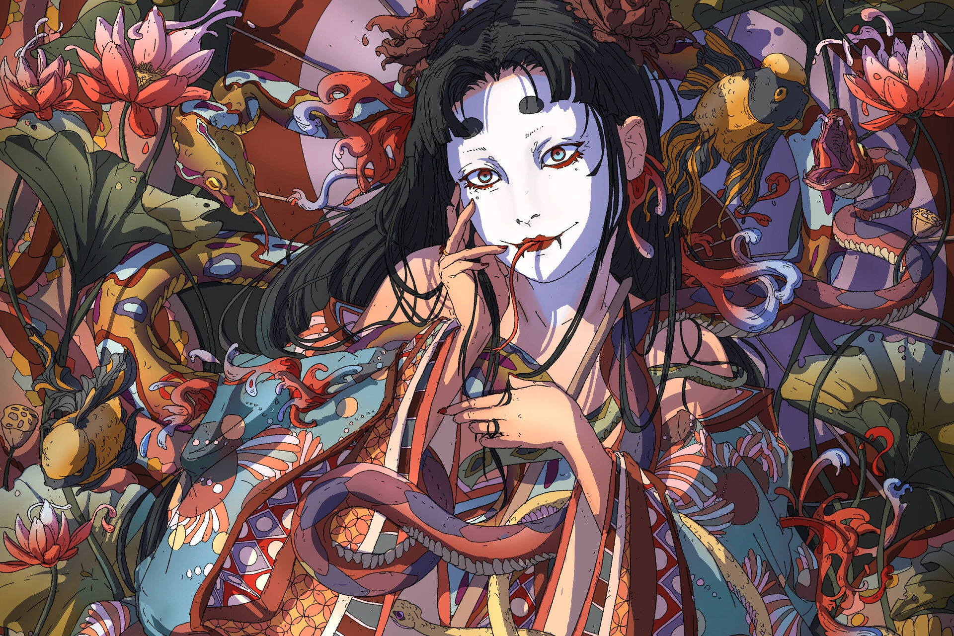 General 1920x1280 artwork women Asian fantasy girl fantasy art Anandah Janaé