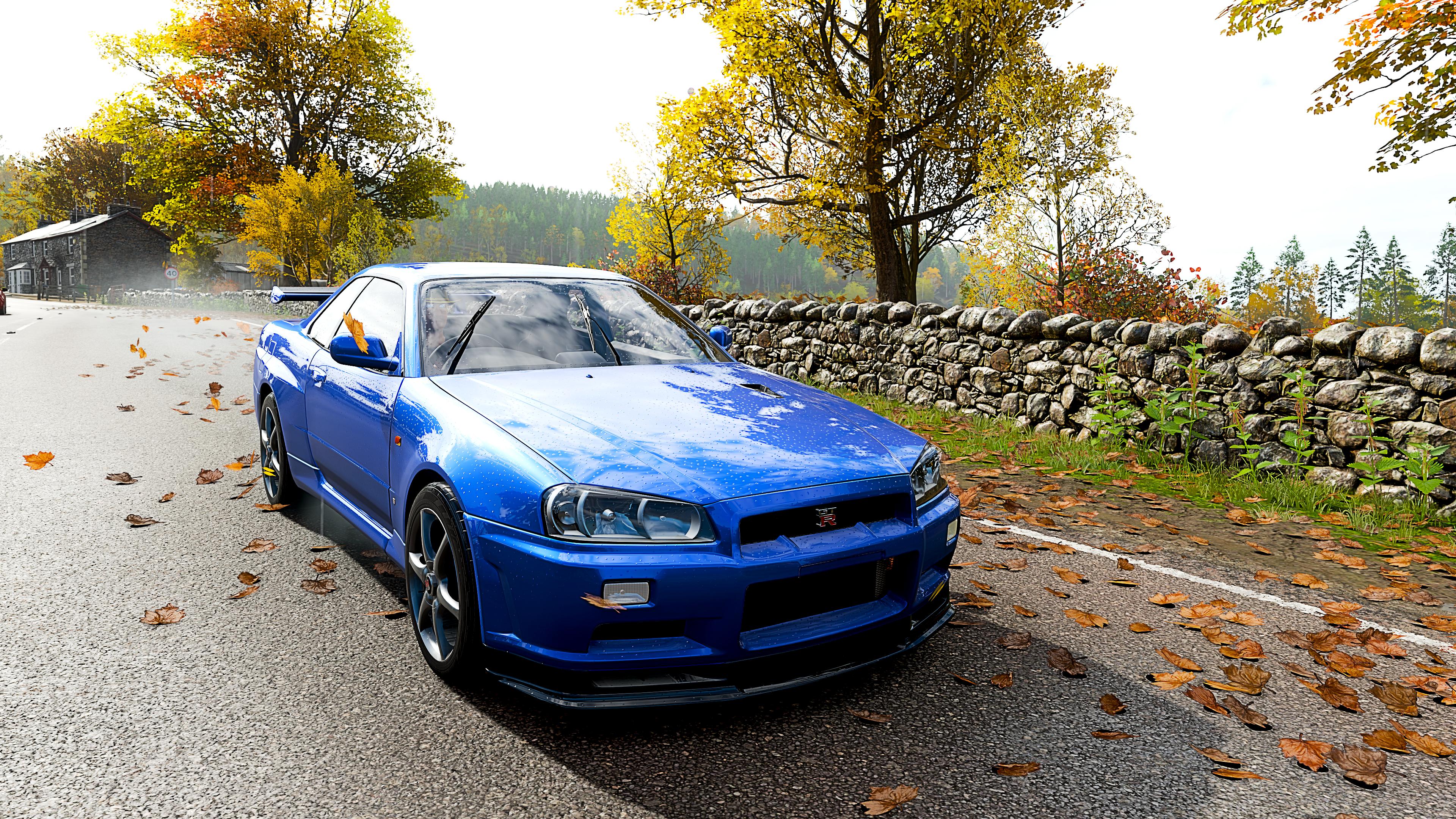 General 3840x2160 Forza Horizon 4 spring car blue cars Skyline R34