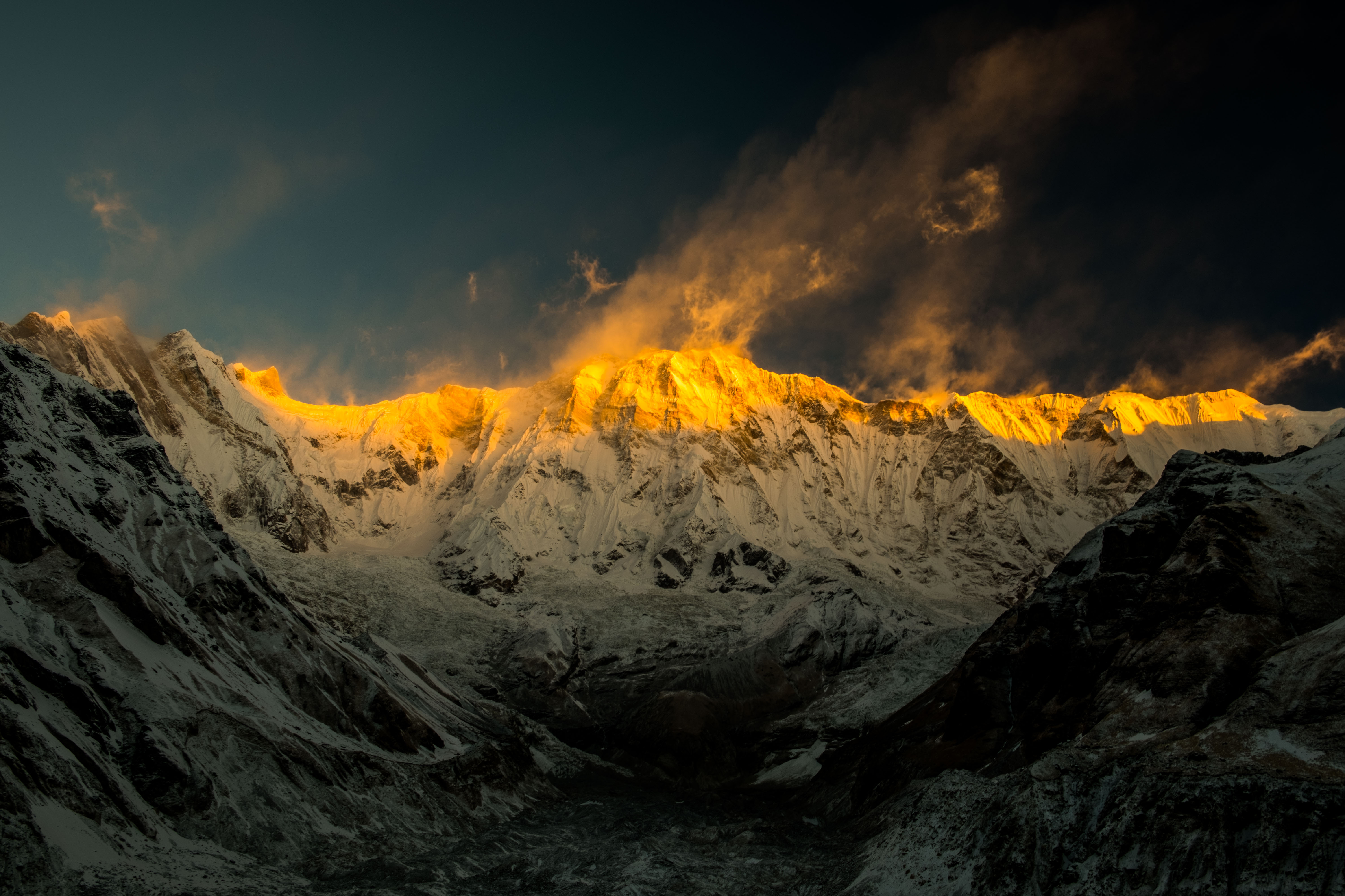 General 5997x3998 nature landscape mountains sunset clouds