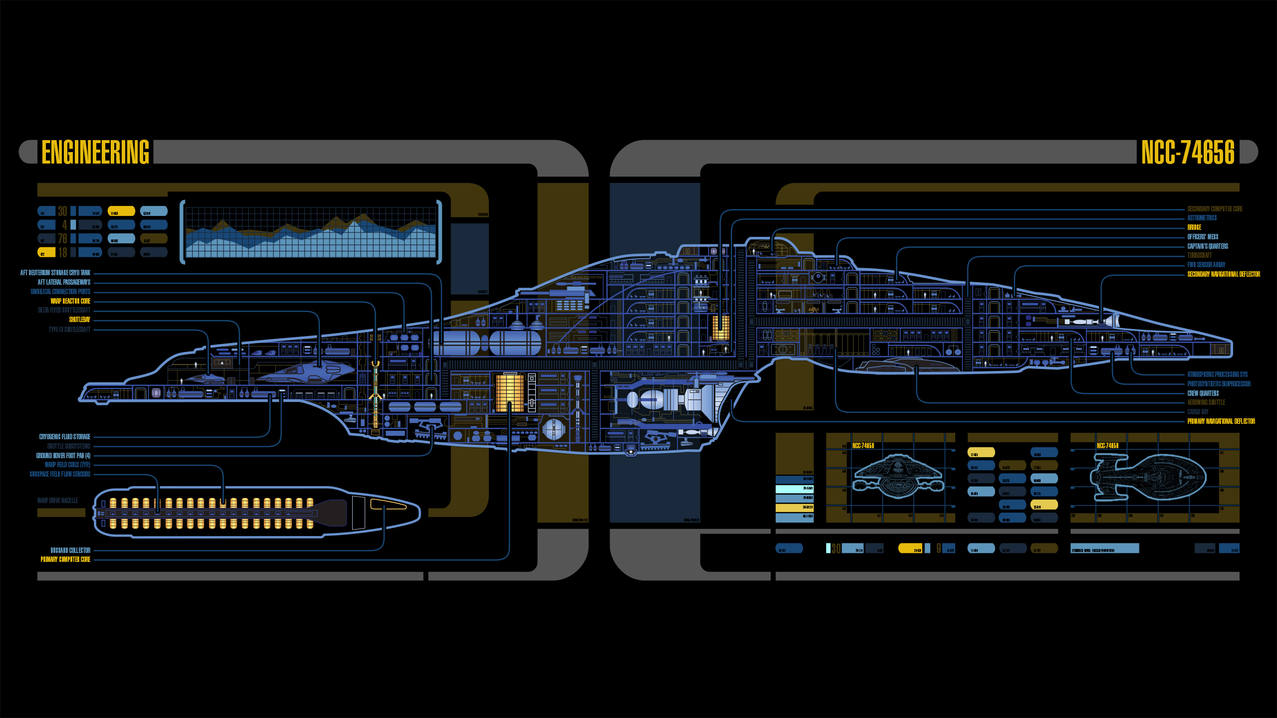 General 2560x1440 Star Trek USS Voyager LCARS