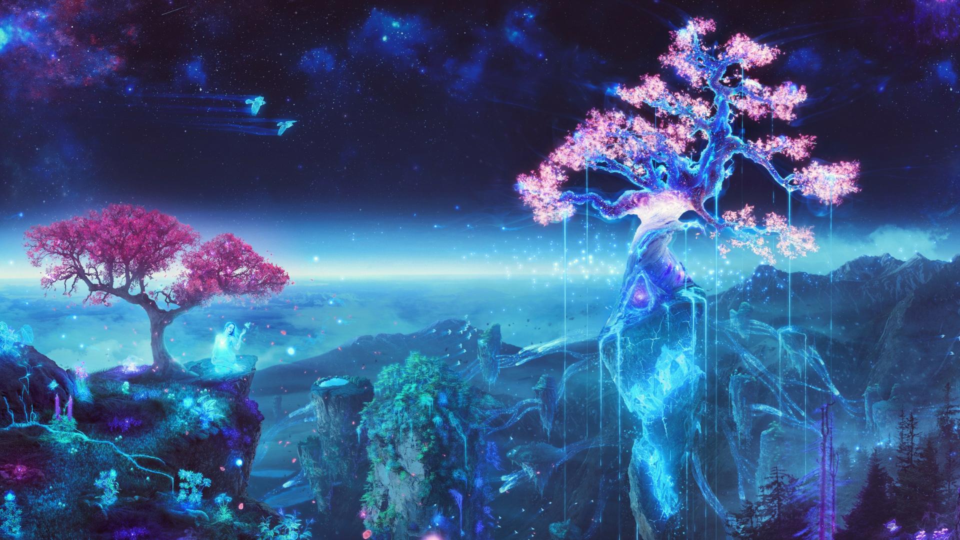 Anime 1920x1080 anime magic digital art fantasy art Bálint Budai