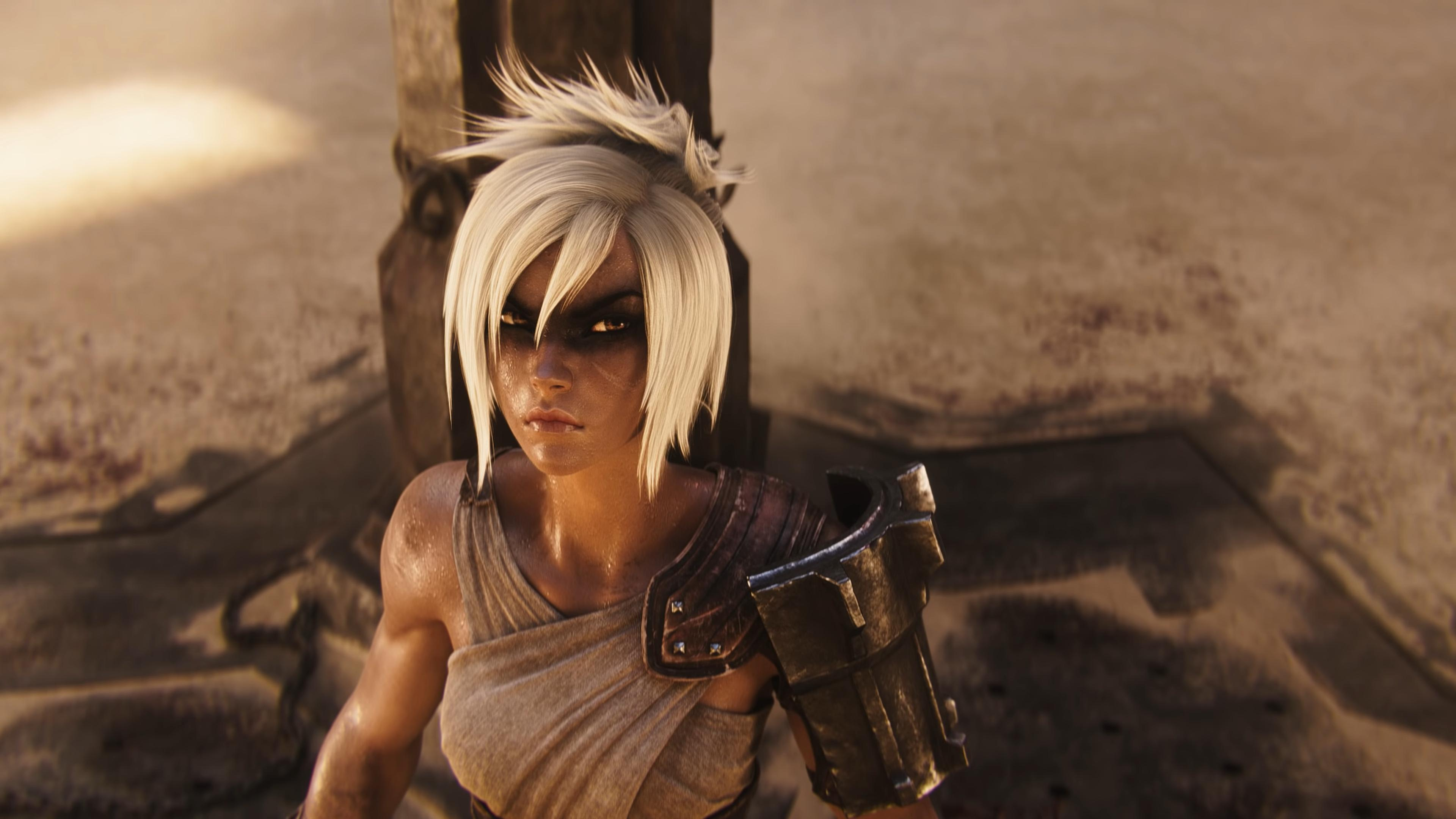 General 3840x2160 League of Legends Riven PC gaming blonde video game girls