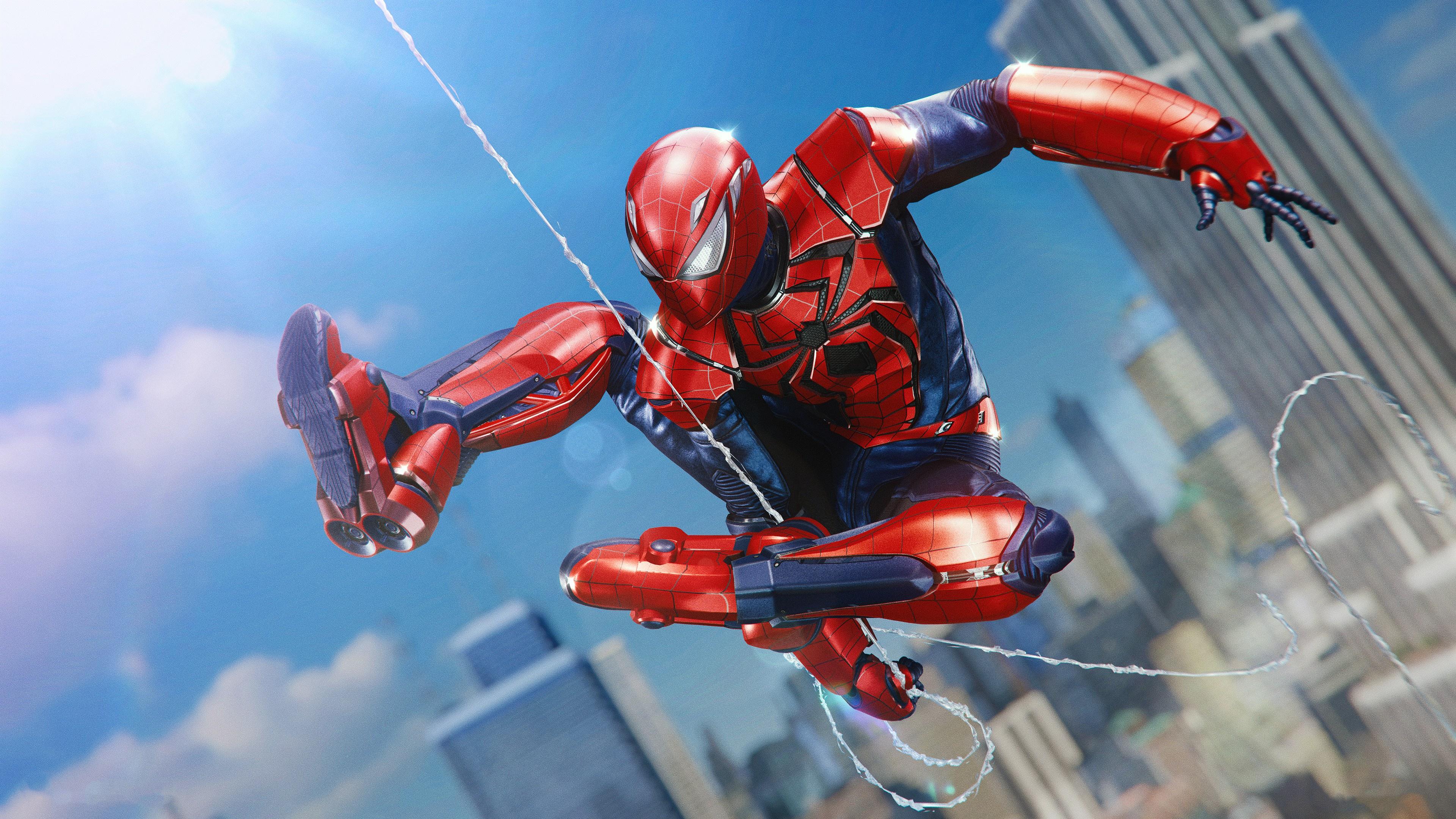 General 3840x2160 Peter Parker Spider-Man video games video game art Marvel Comics