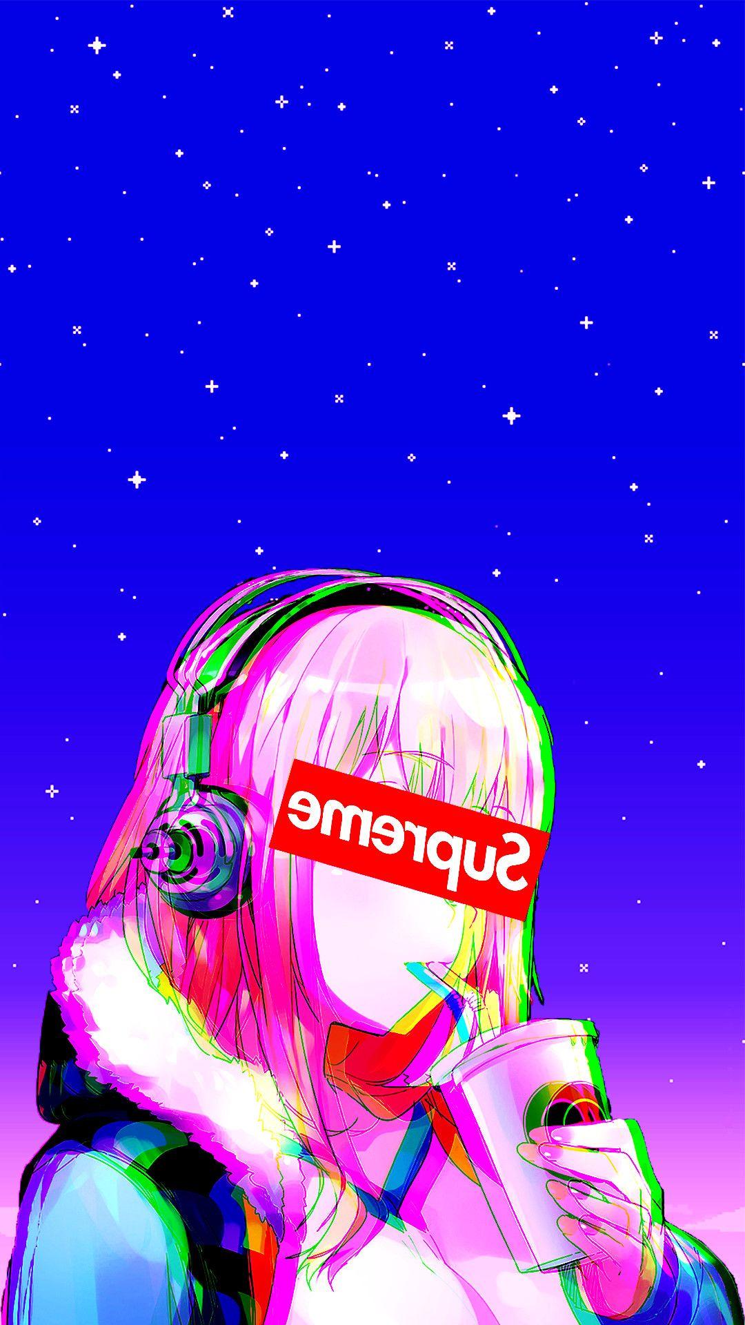 Super Sonico Supreme Anime Girls Headphones 1080x1920 Wallpaper Wallhaven Cc