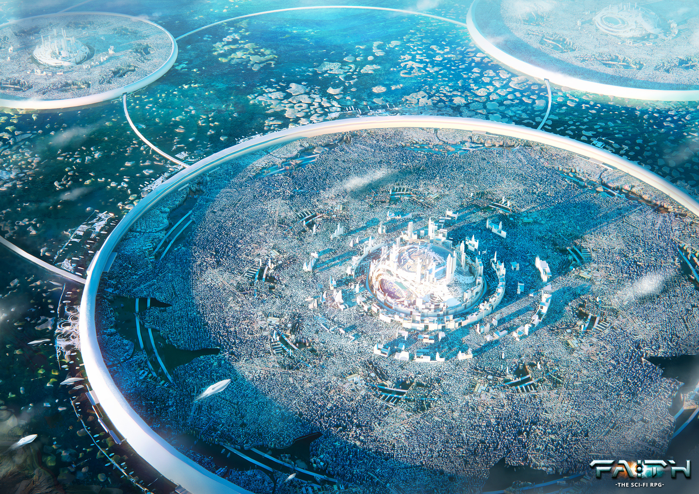 General 2800x1980 Leon Tukker ArtStation futuristic city digital art Faith: the Sci-Fi RPG RPG futuristic video game art
