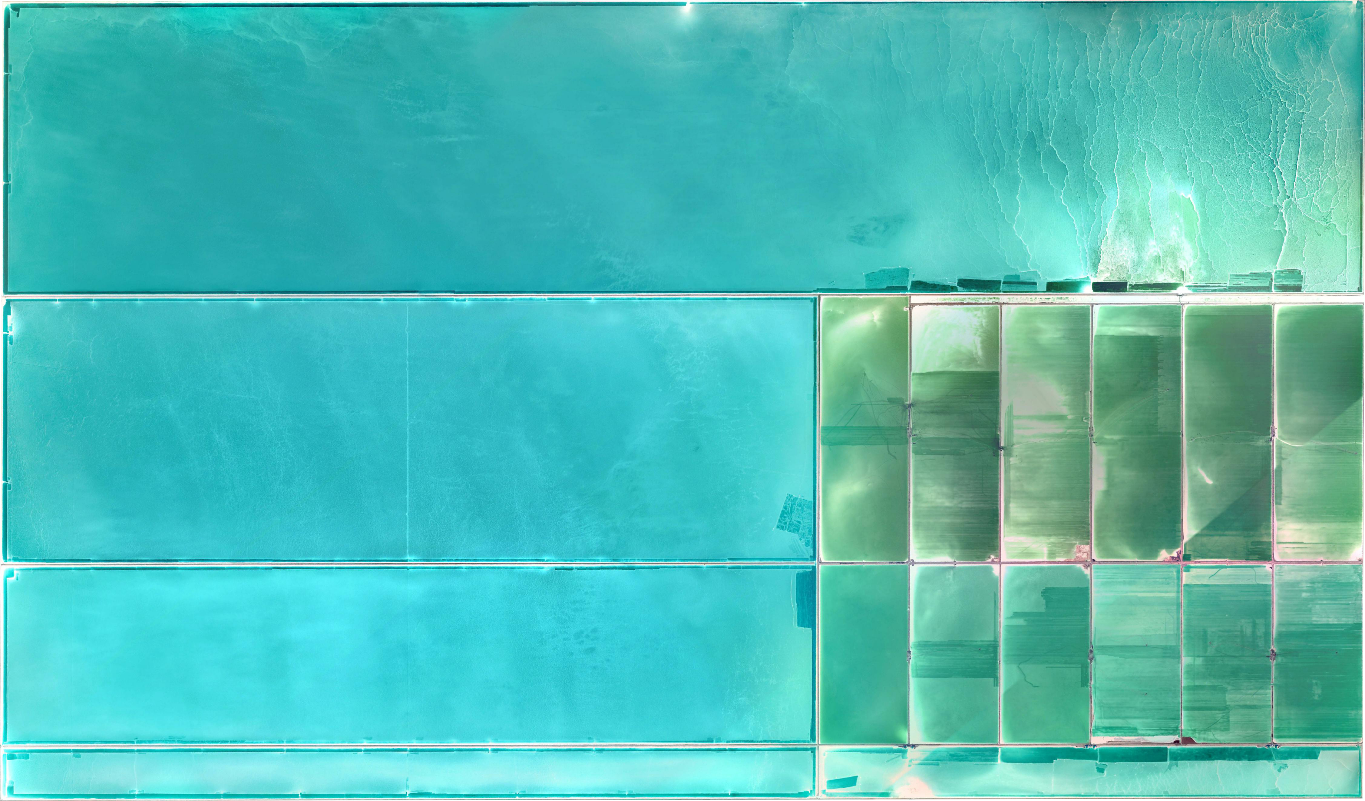 General 4508x2644 China salt flats cyan cyan background Earth water turquoise
