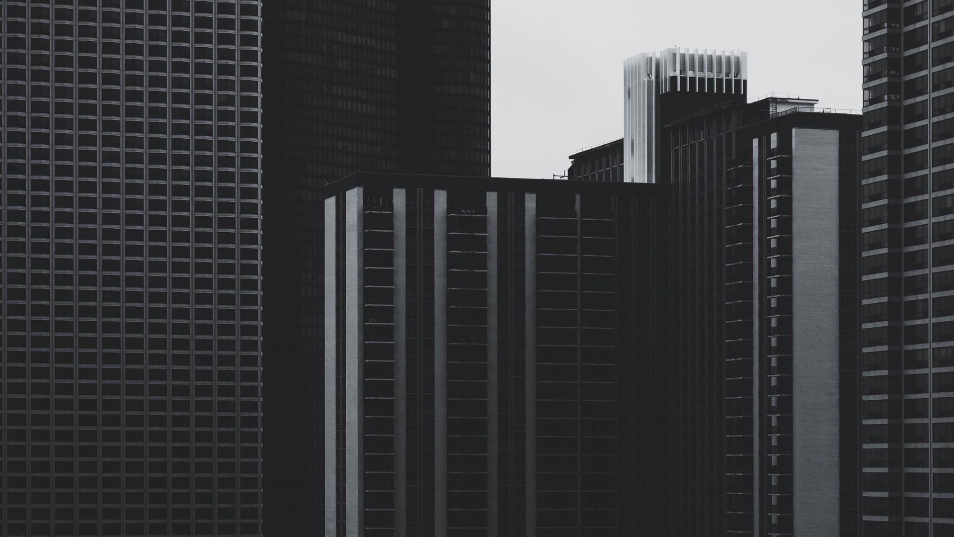 General 1920x1080 monochrome architecture building skyscraper photography minimalism urban window