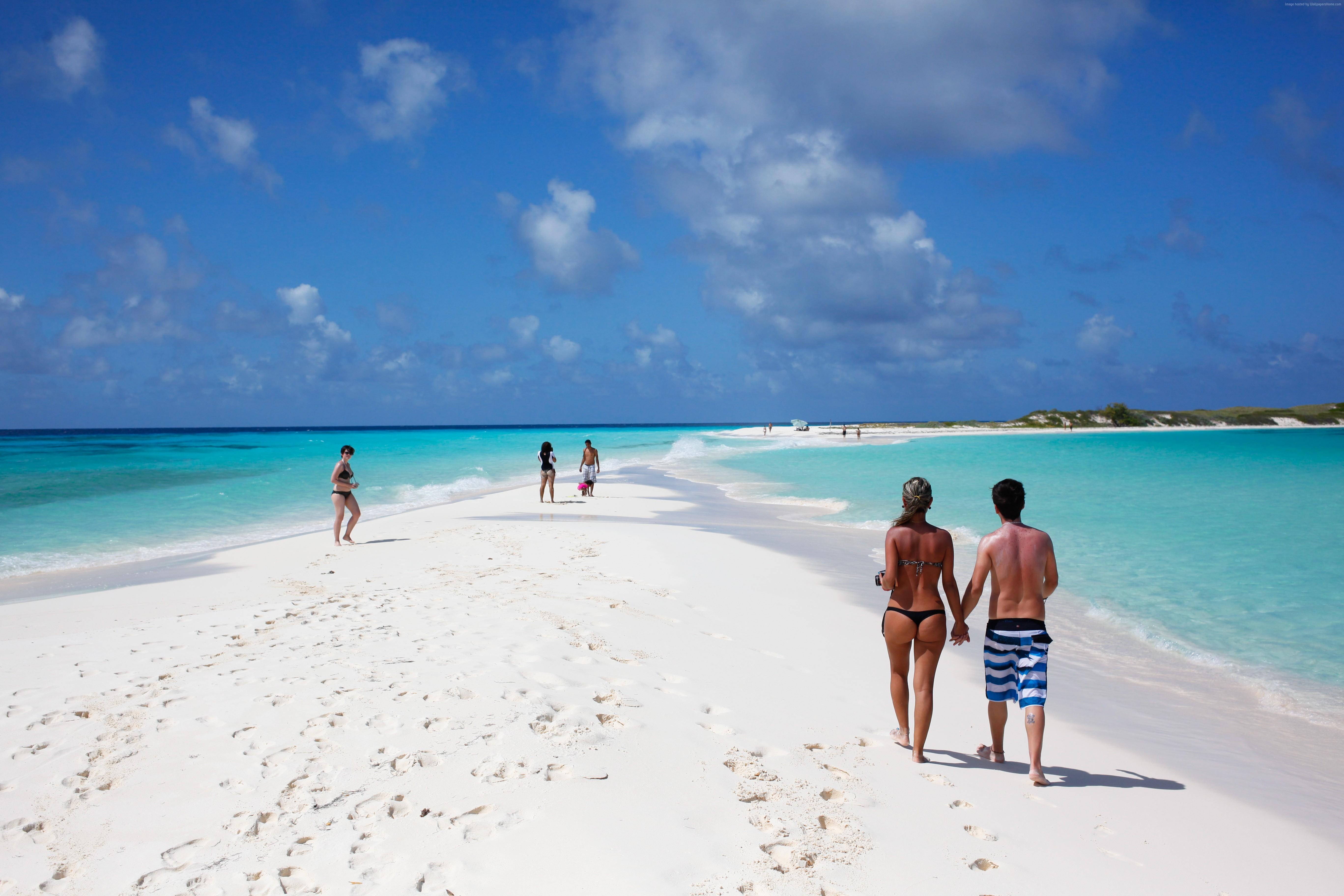 People 5470x3647 landscape nature clouds sea women Venezuela beach couple bikini ass