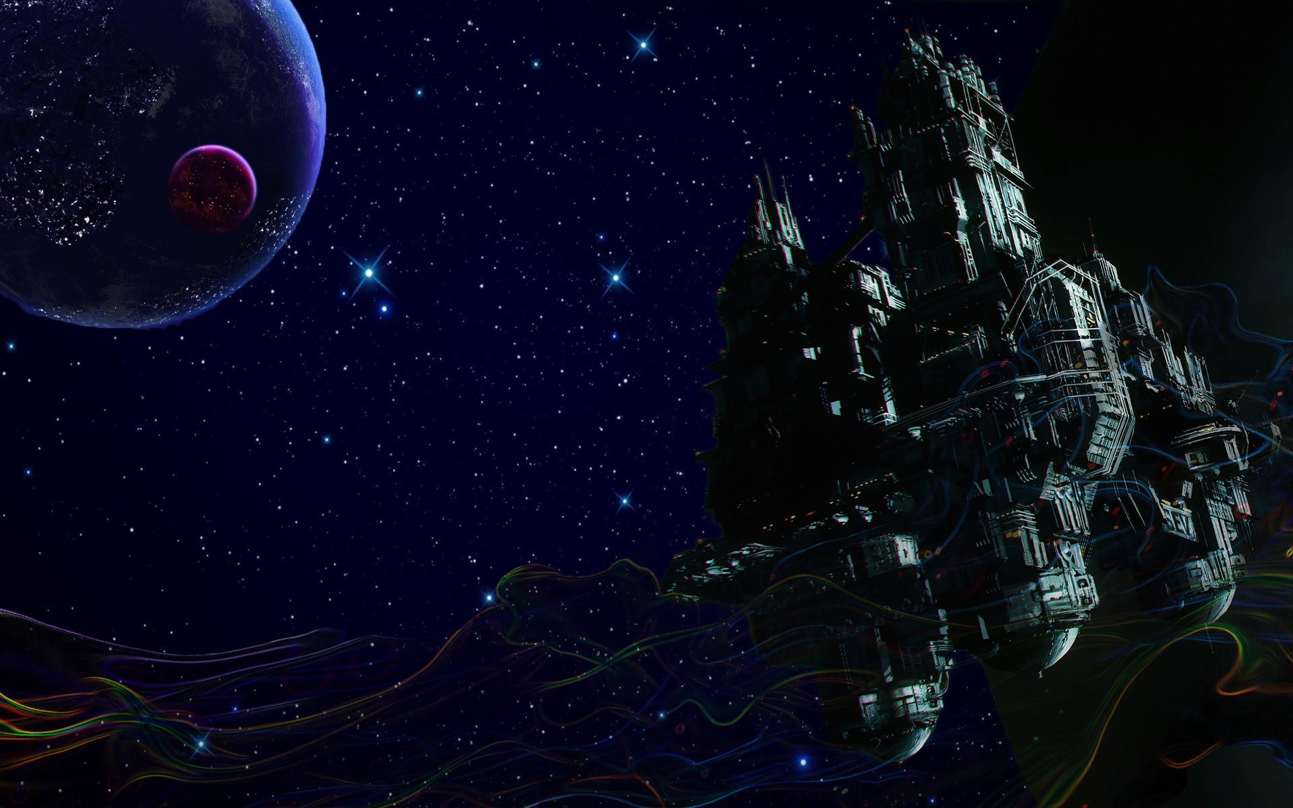 General 2560x1600 space trippy smoke stars spaceship