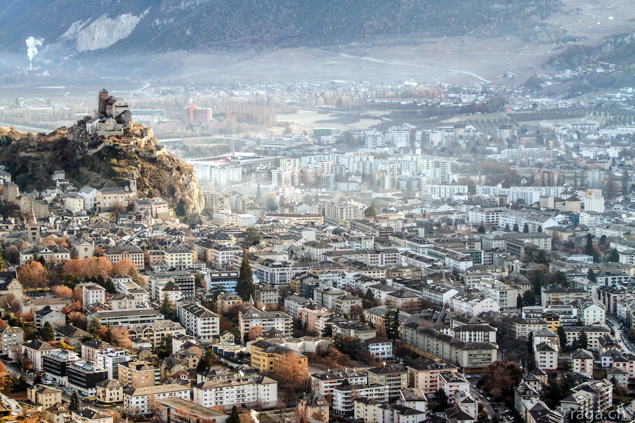 General 2048x1365 city Switzerland cityscape mountains Sierre