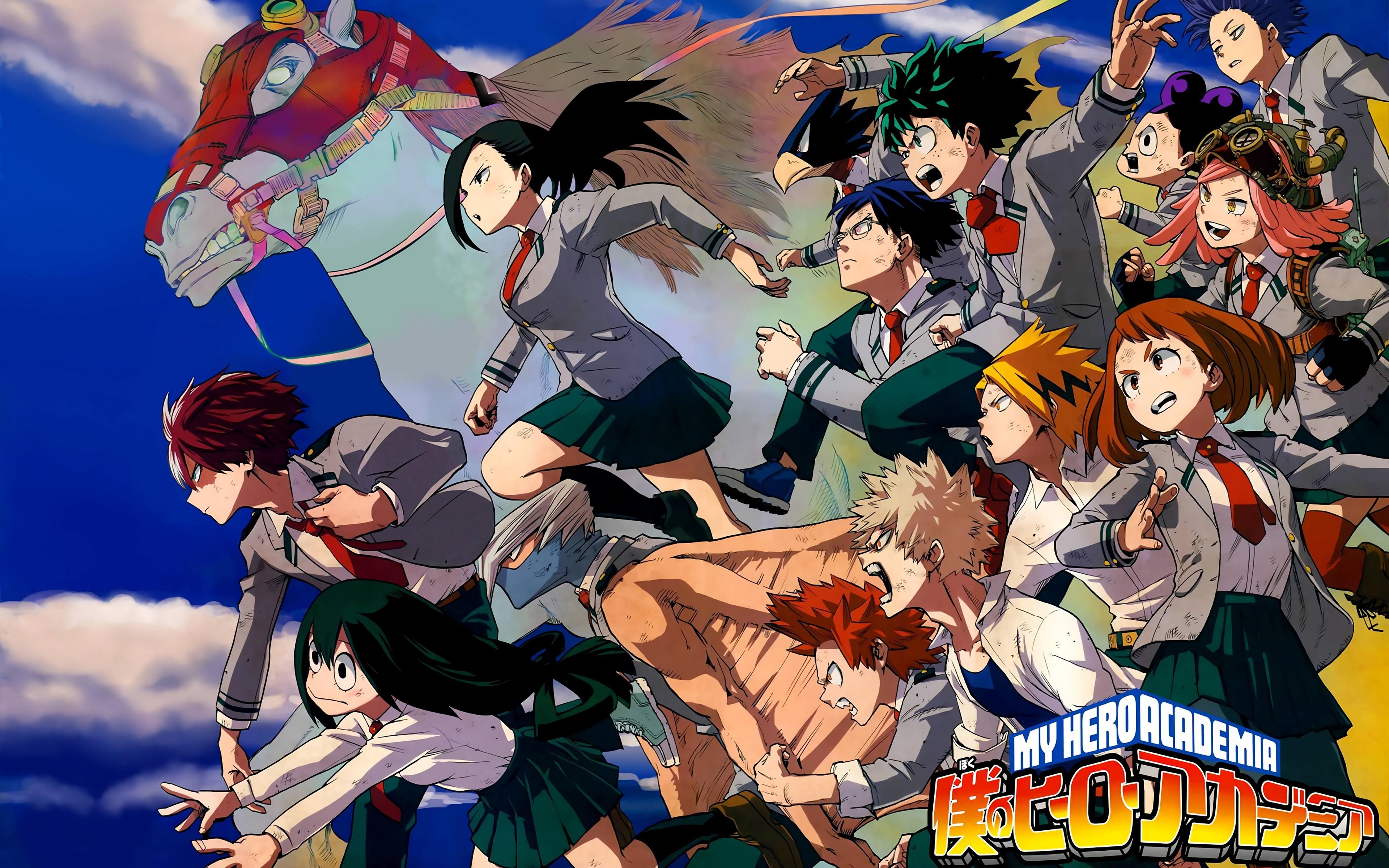 Anime 3840x2400 Boku no Hero Academia anime horse Kaminari Denki
