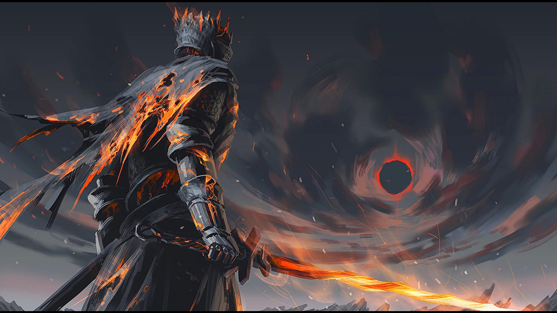 General 1920x1080 fantasy art warrior Dark Souls III Dark Souls video games sword video game art game art artwork