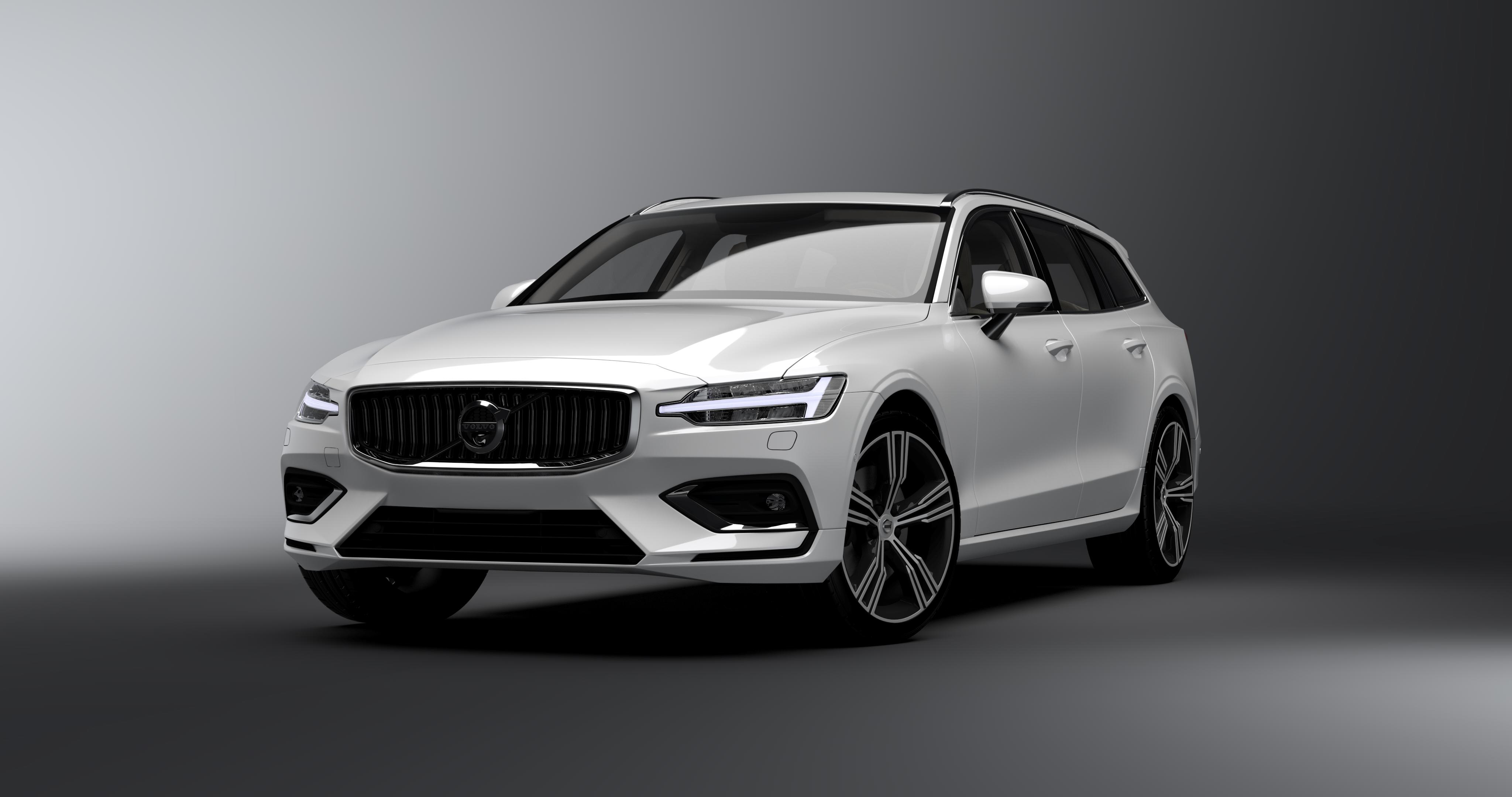 General 4096x2160 Volvo V60 car Volvo V60 vehicle automotive 3D visualization Swedish cars