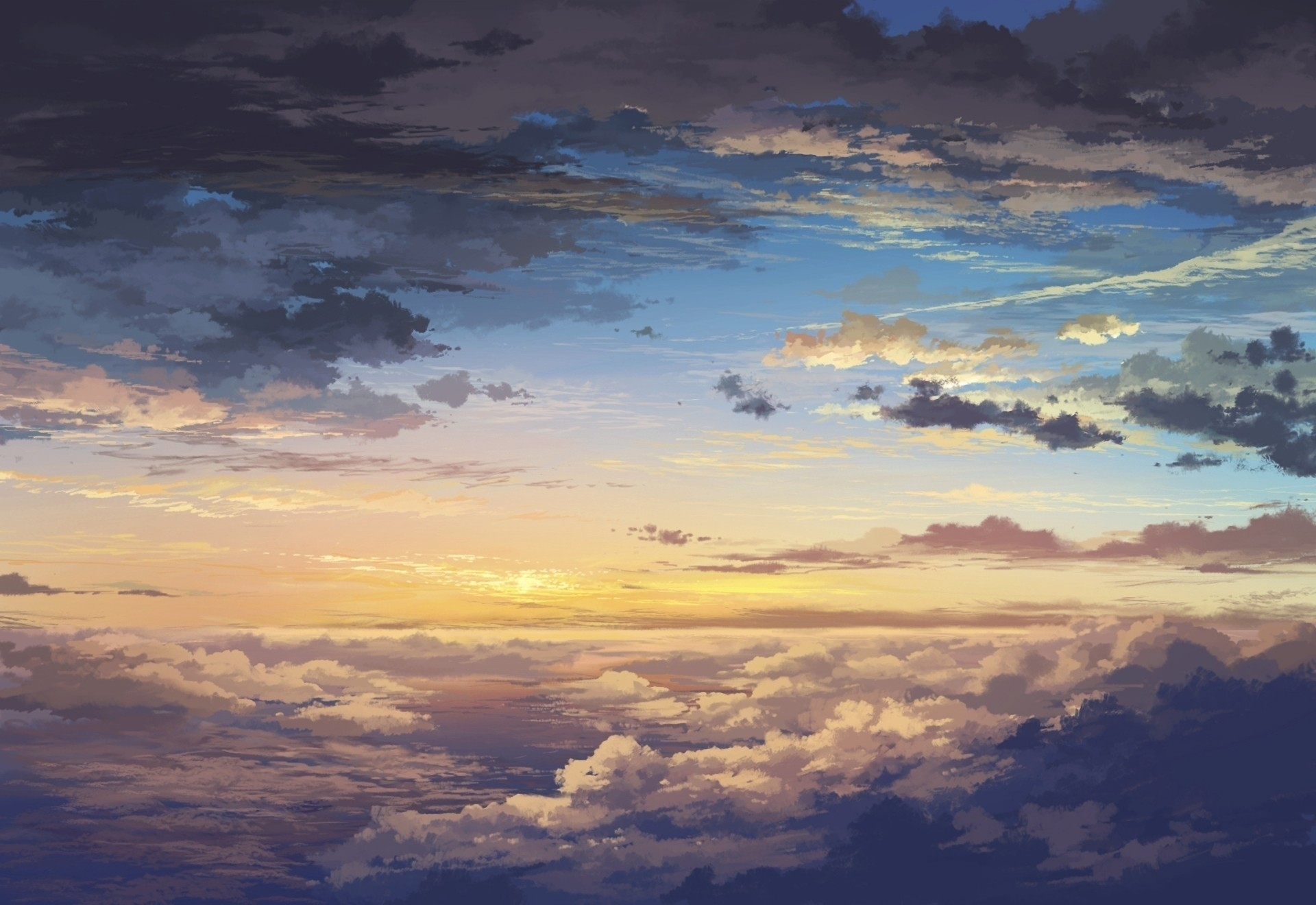 Anime 1920x1320 5 Centimeters Per Second clouds sky anime sunlight