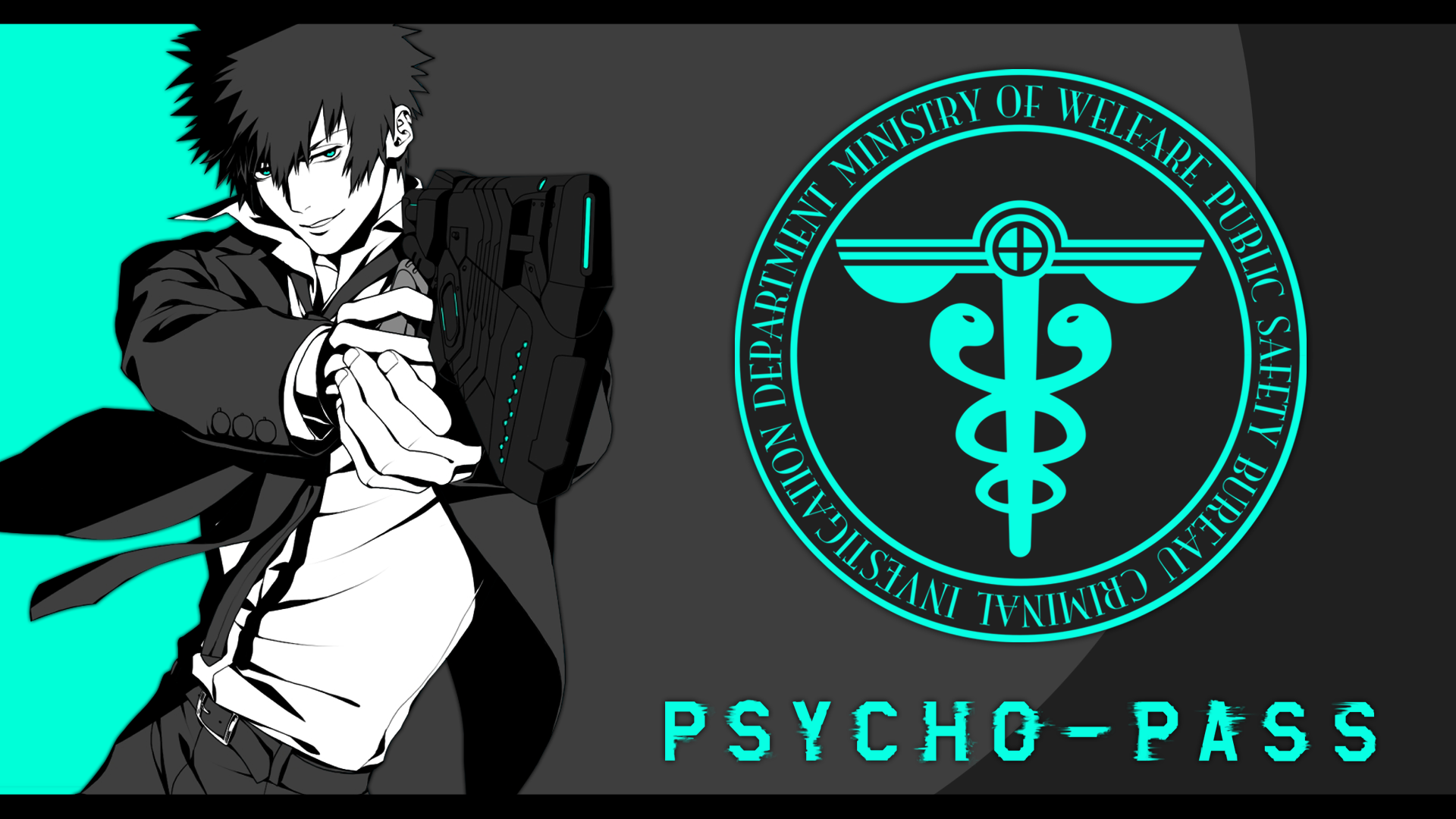 Anime 1920x1080 Psycho-Pass Shinya Kogami anime anime boys turquoise