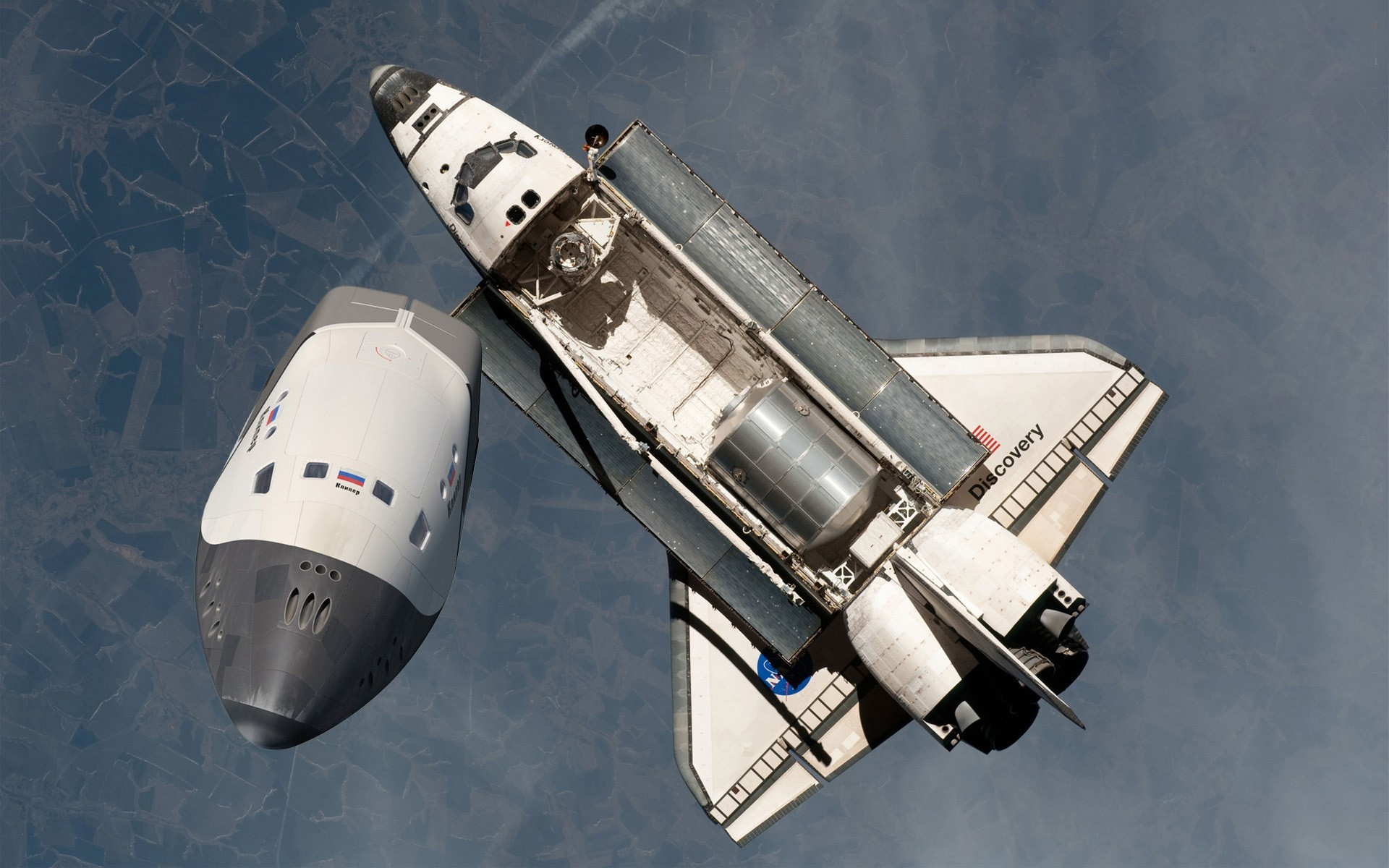 General 1920x1200 Space Shuttle Discovery NASA photo manipulation fakes