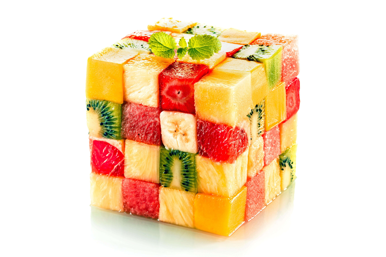 General 6000x4000 kiwi (fruit) food pineapples strawberries Rubik's Cube love