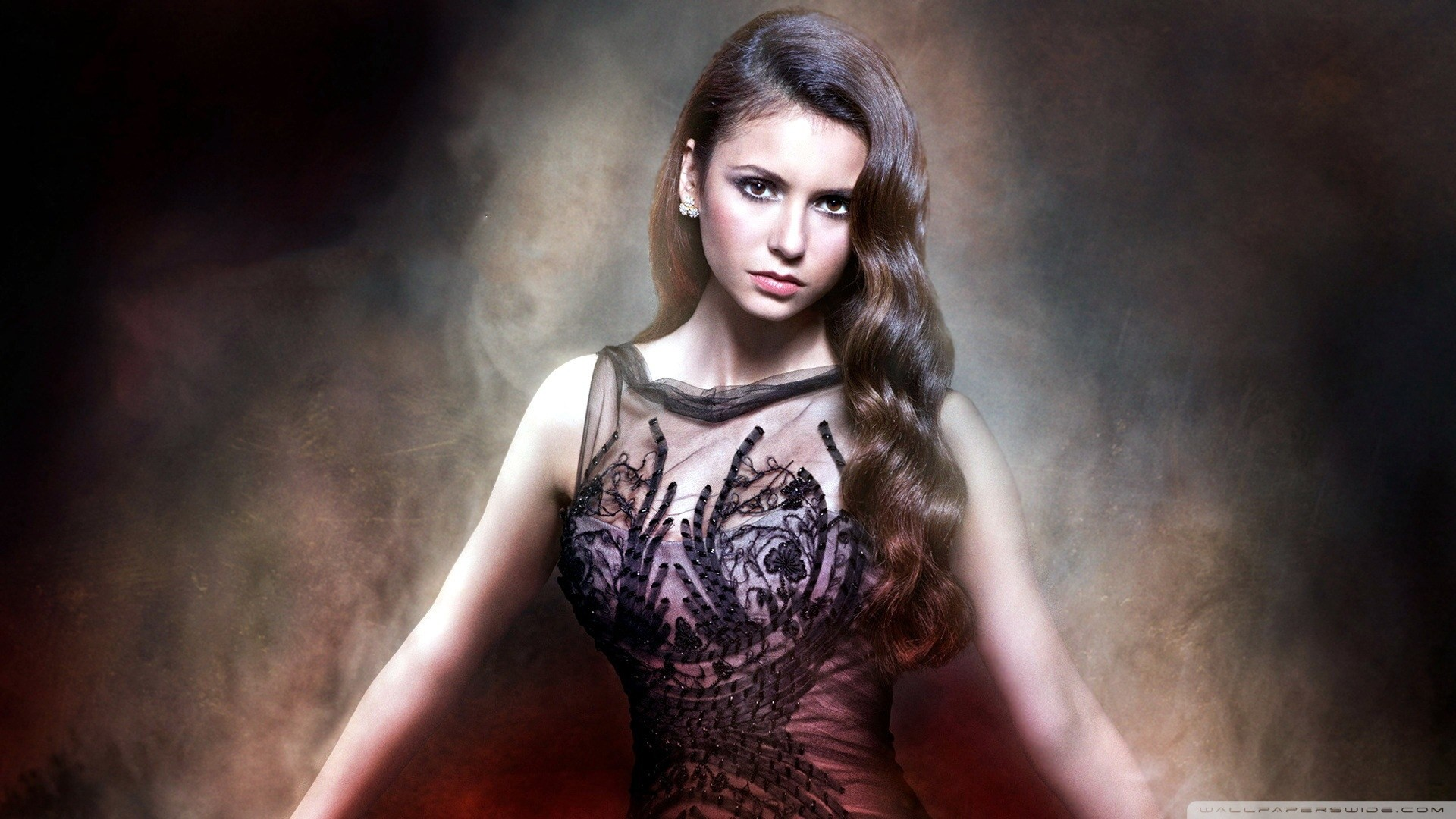 People 1920x1080 Nina Dobrev women actress brunette The Vampire Diaries Elena Gilbert