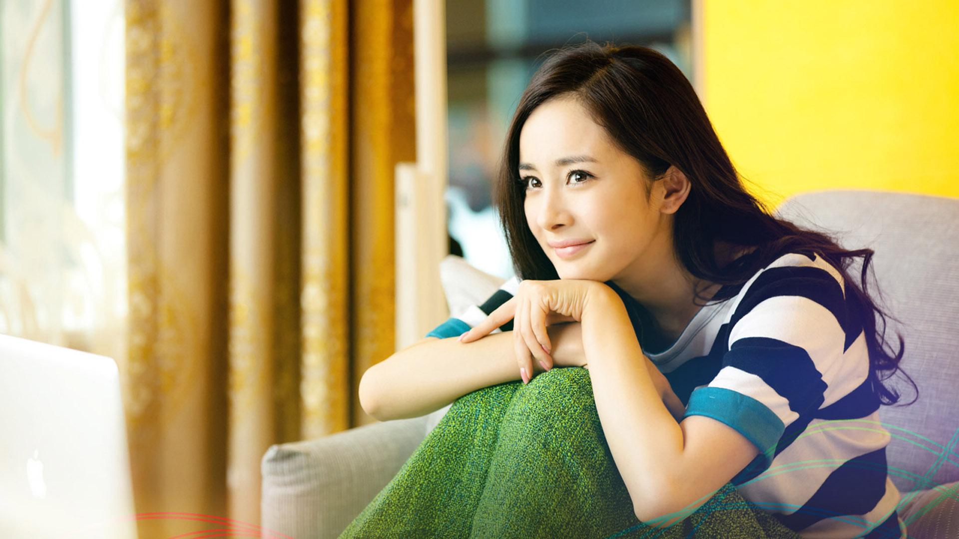 People 1920x1080 Asian Chinese women smiling yang mi