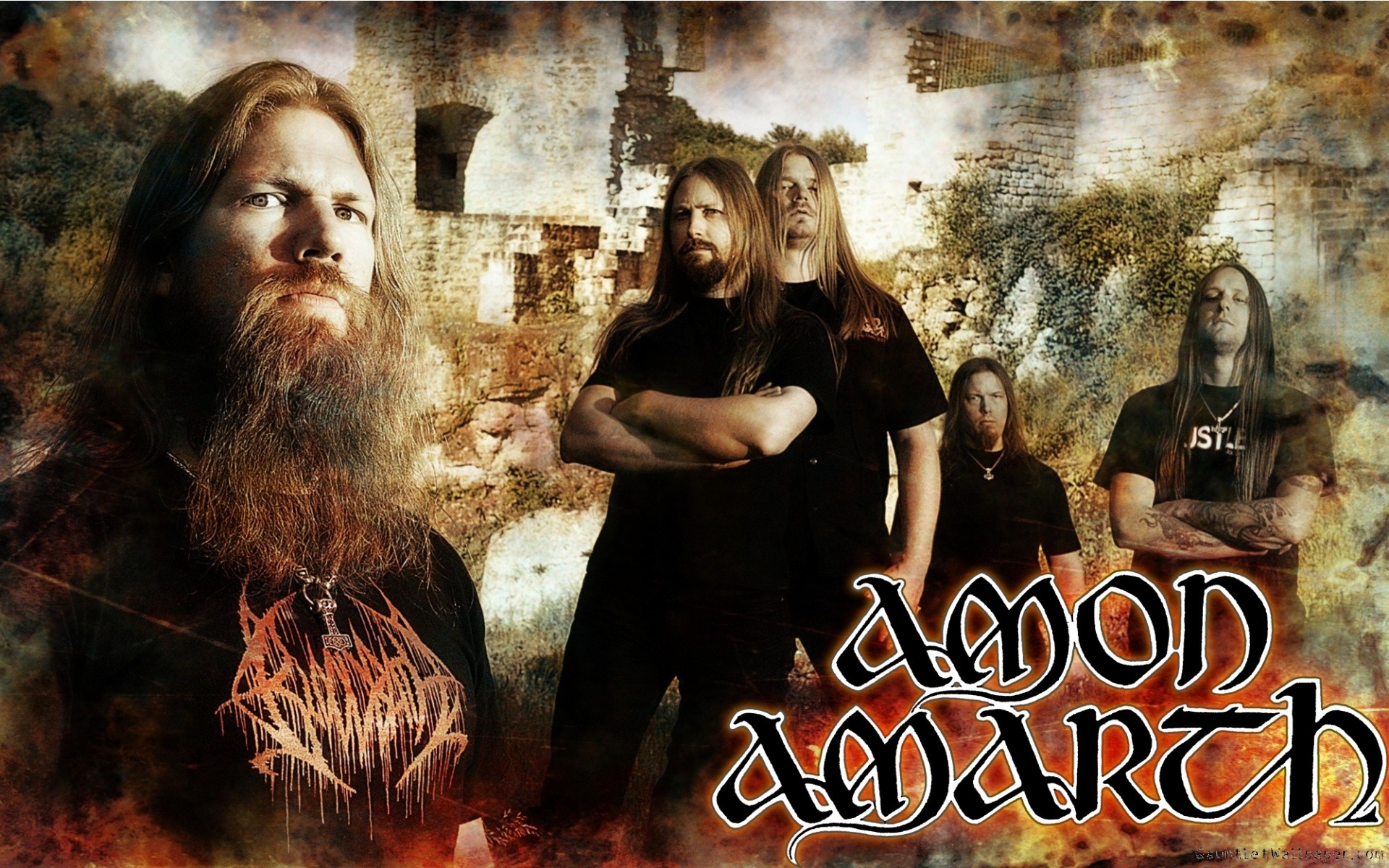 People 1920x1200 music metal music Amon Amarth Vikings heavy metal