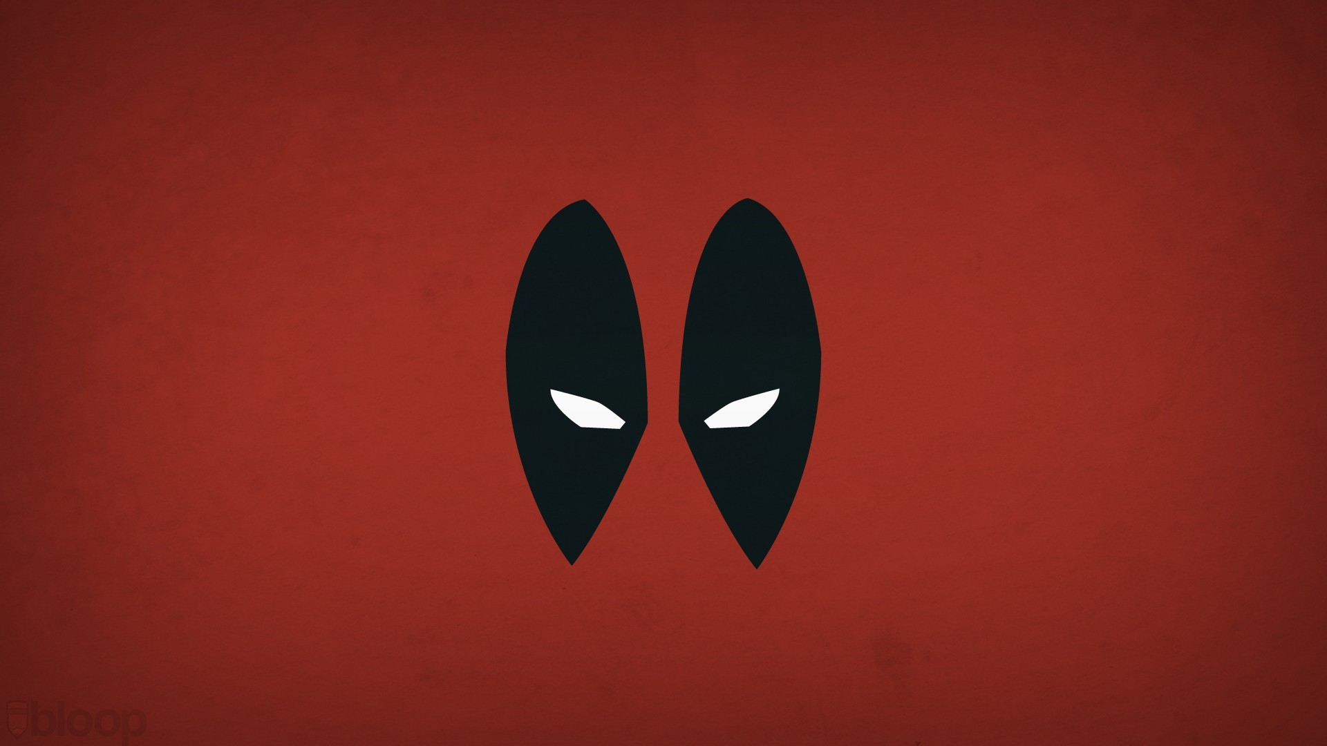 General 1920x1080 minimalism Marvel Comics hero Deadpool Blo0p simple background red background antiheroes