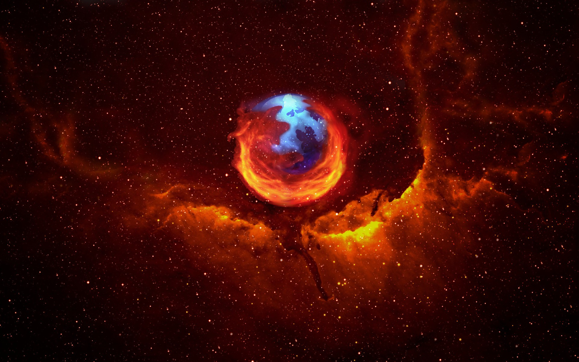 General 1920x1200 Mozilla Firefox space abstract Browser internet digital art