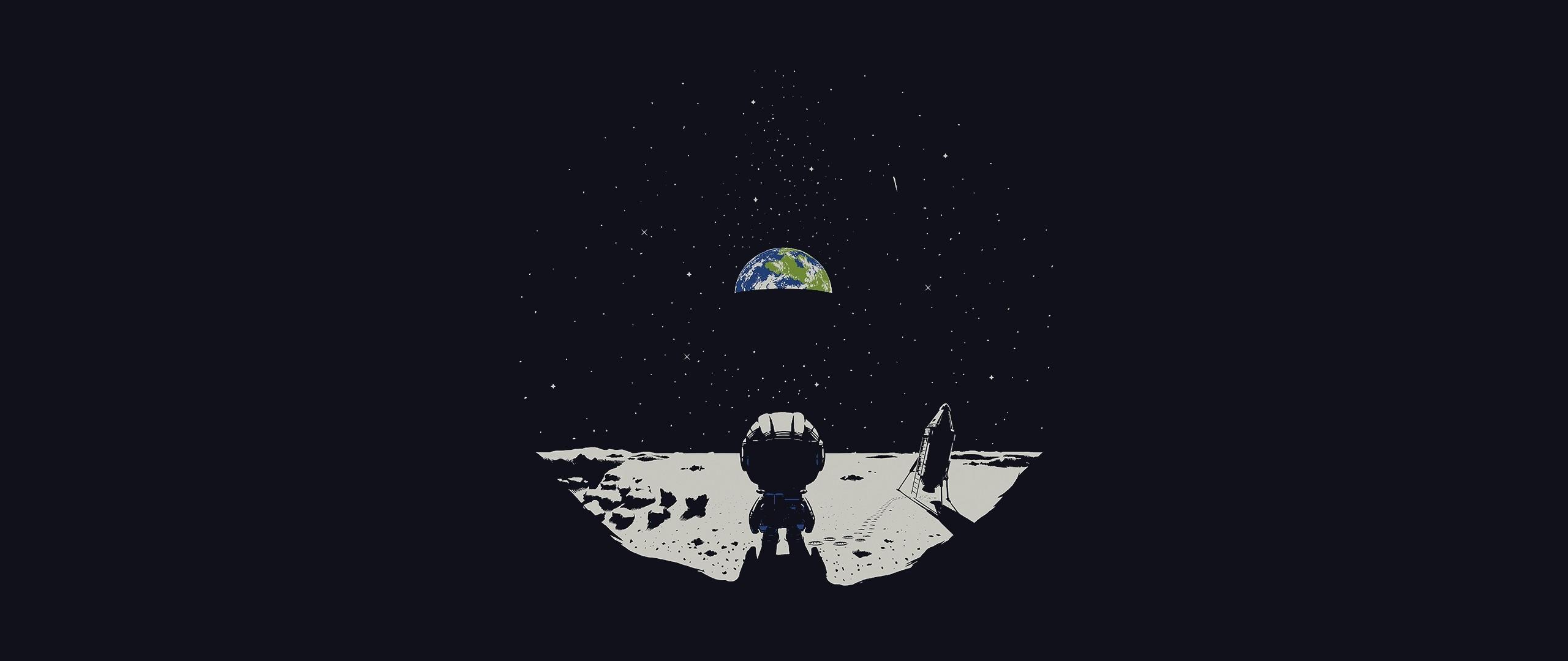 General 2560x1080 ultrawide space Moon Earth Kerbal Space Program ultra-wide