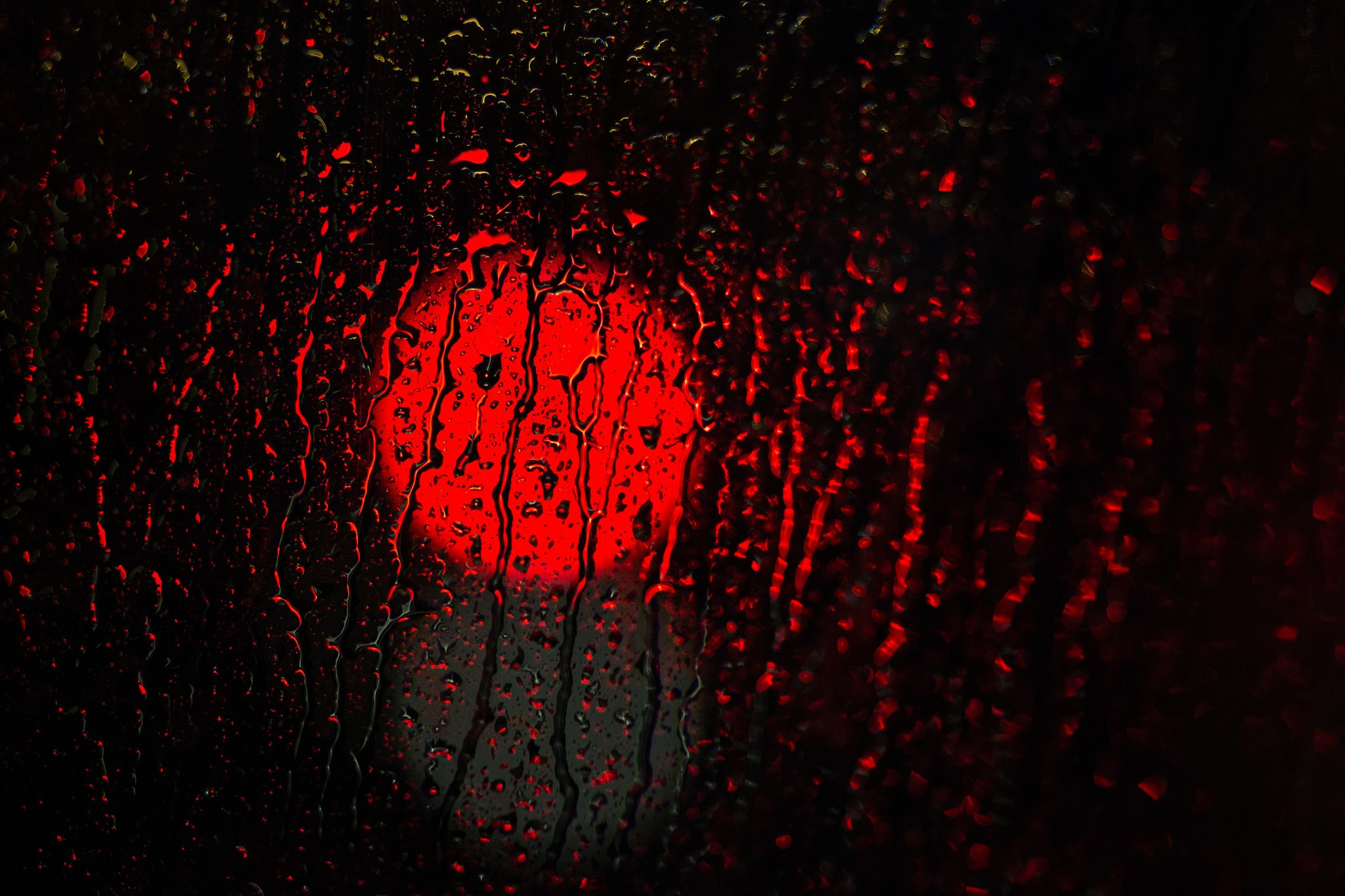 General 2048x1365 rain red water lights photography water drops macro water on glass