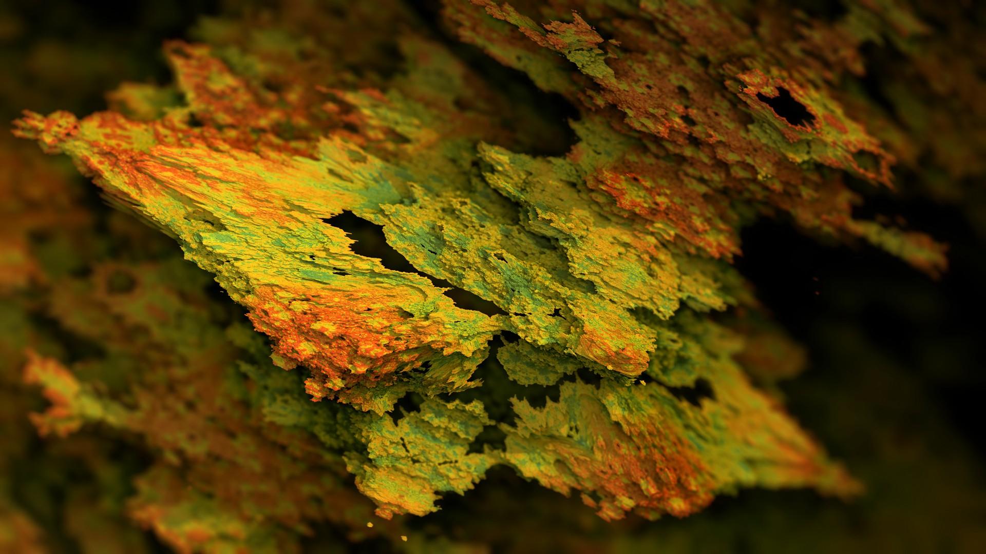 General 1920x1080 Procedural Minerals mineral CGI artwork abstract digital art