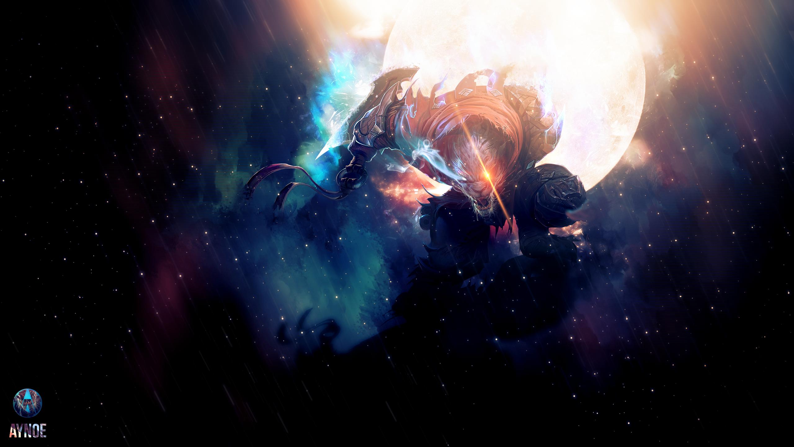 General 2560x1440 League of Legends Rengar space fantasy art video games
