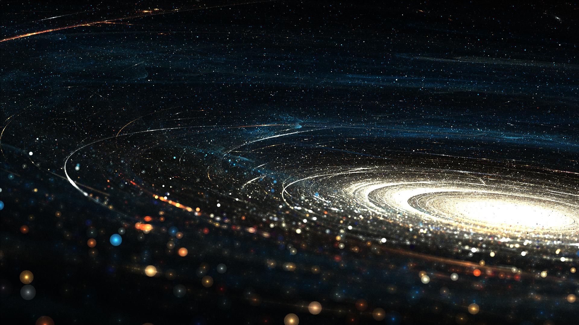 General 1920x1080 galaxy space digital art abstract