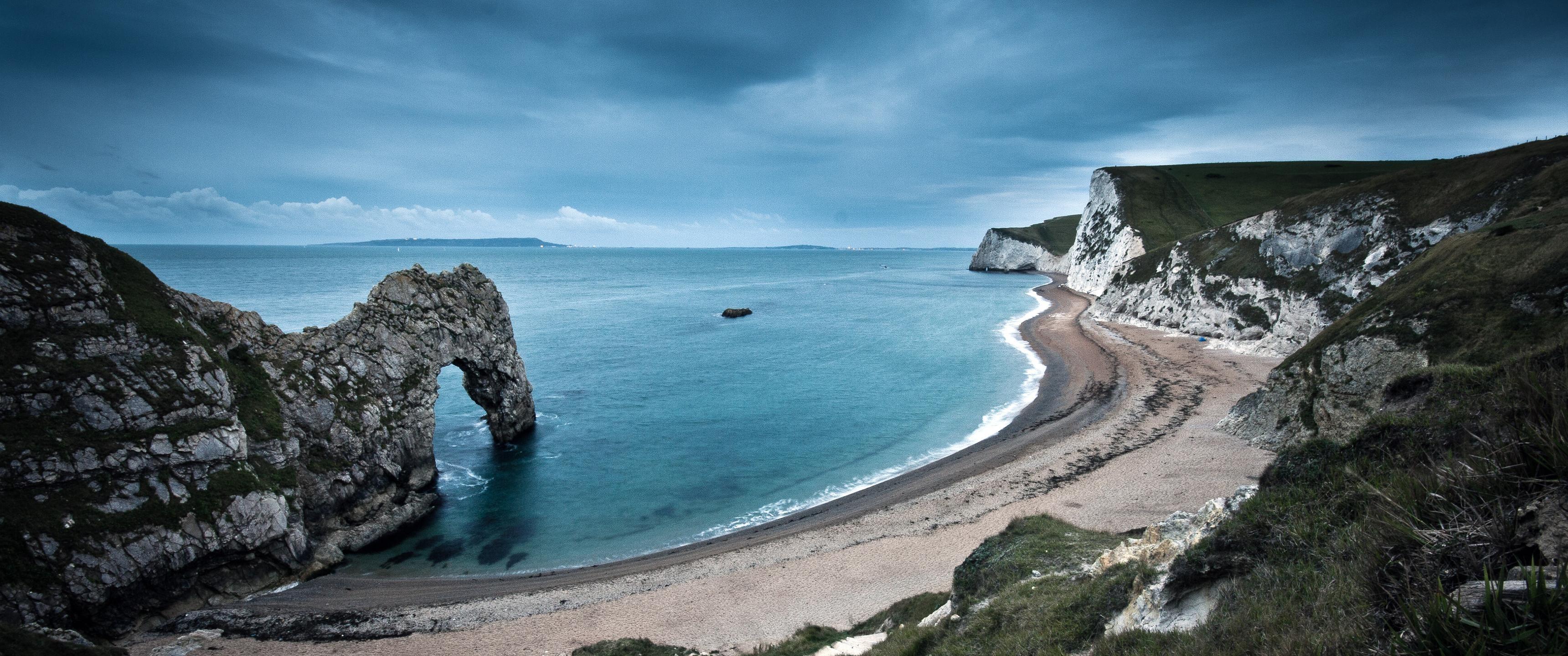 General 3440x1440 nature wide angle coast cliff sea Durdle Door England jurassic coast (england)