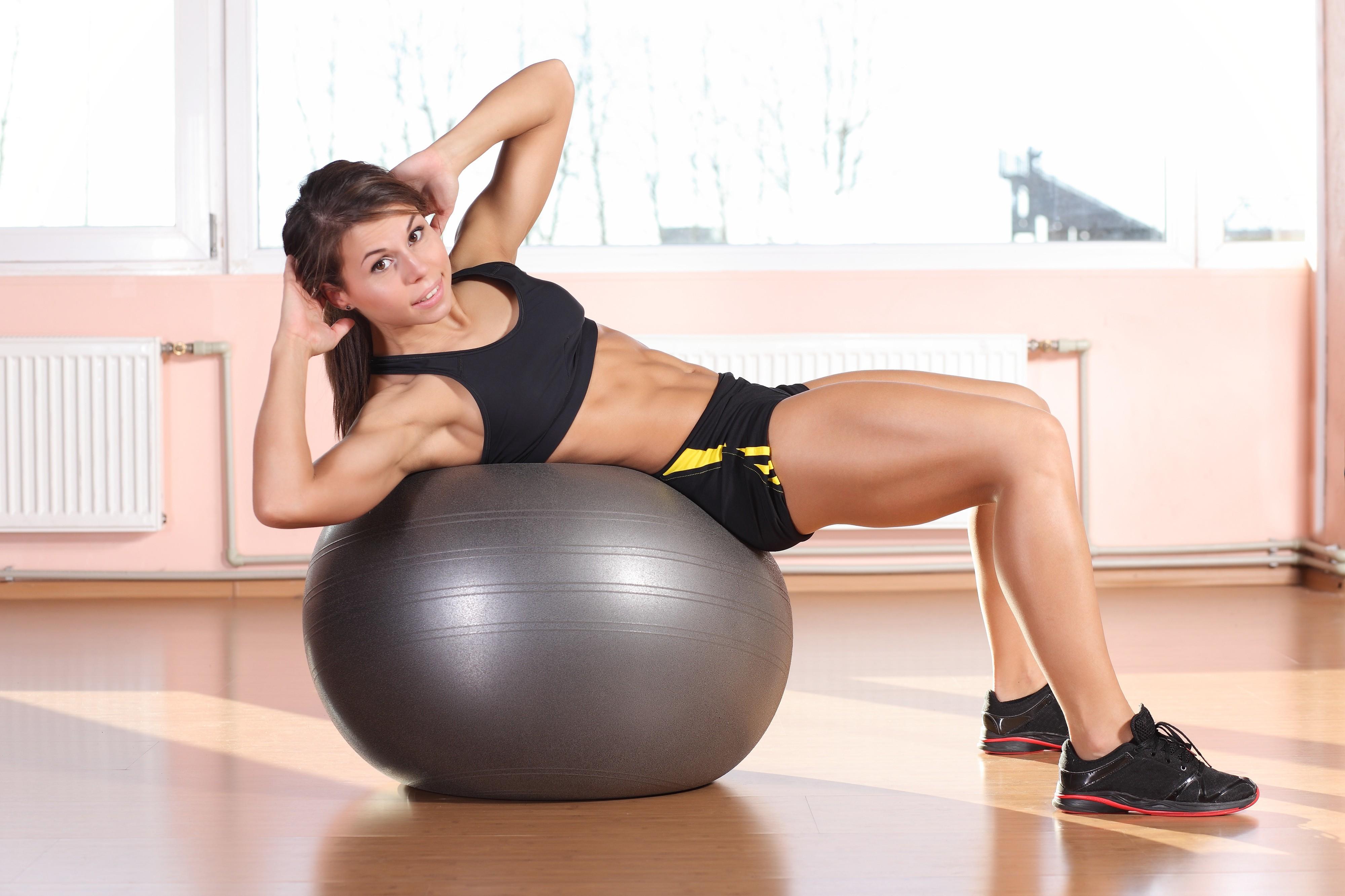 People 4000x2667 fitness model women sportswear muscular brunette armpits abs exercise