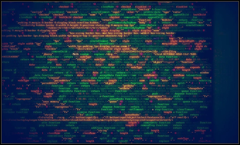 General 1358x826 JavaScript minified computer code CSS syntax highlighting minimalism hacking programming Matrix green