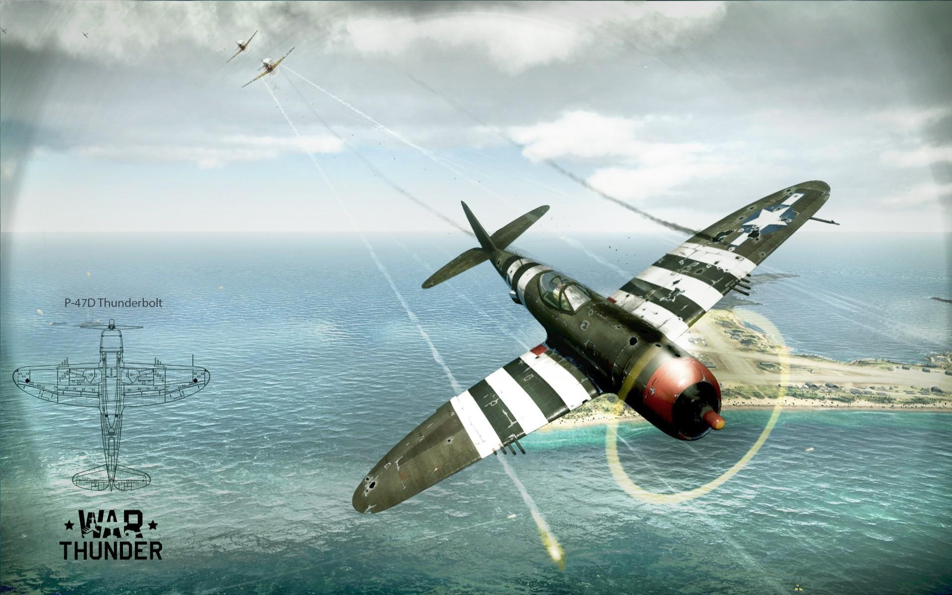General 1920x1200 aircraft airplane P-47 Thunderbolt war World War II War Thunder PC gaming vehicle
