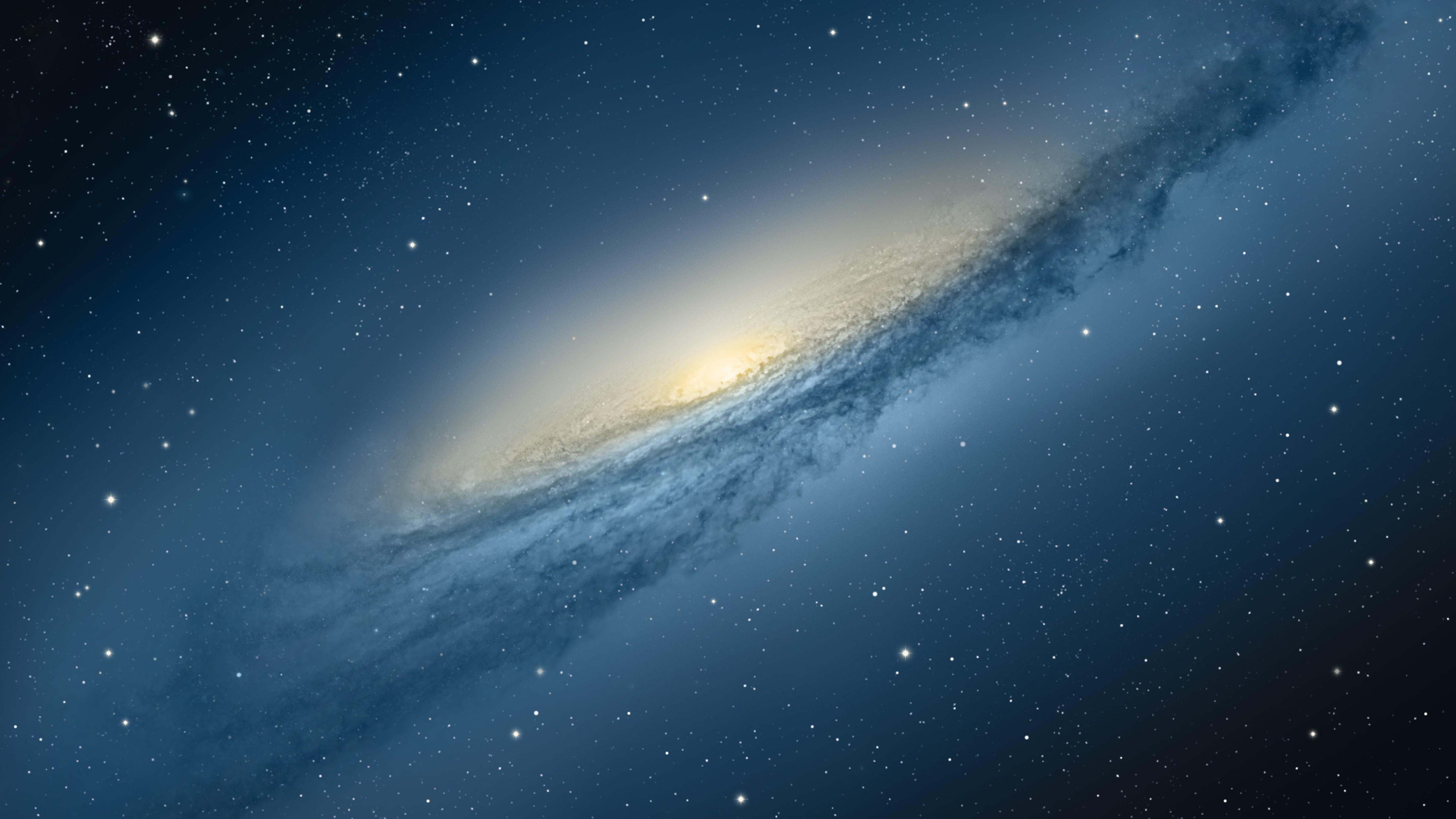 General 5120x2880 space stars blue digital art galaxy space art NGC 3190