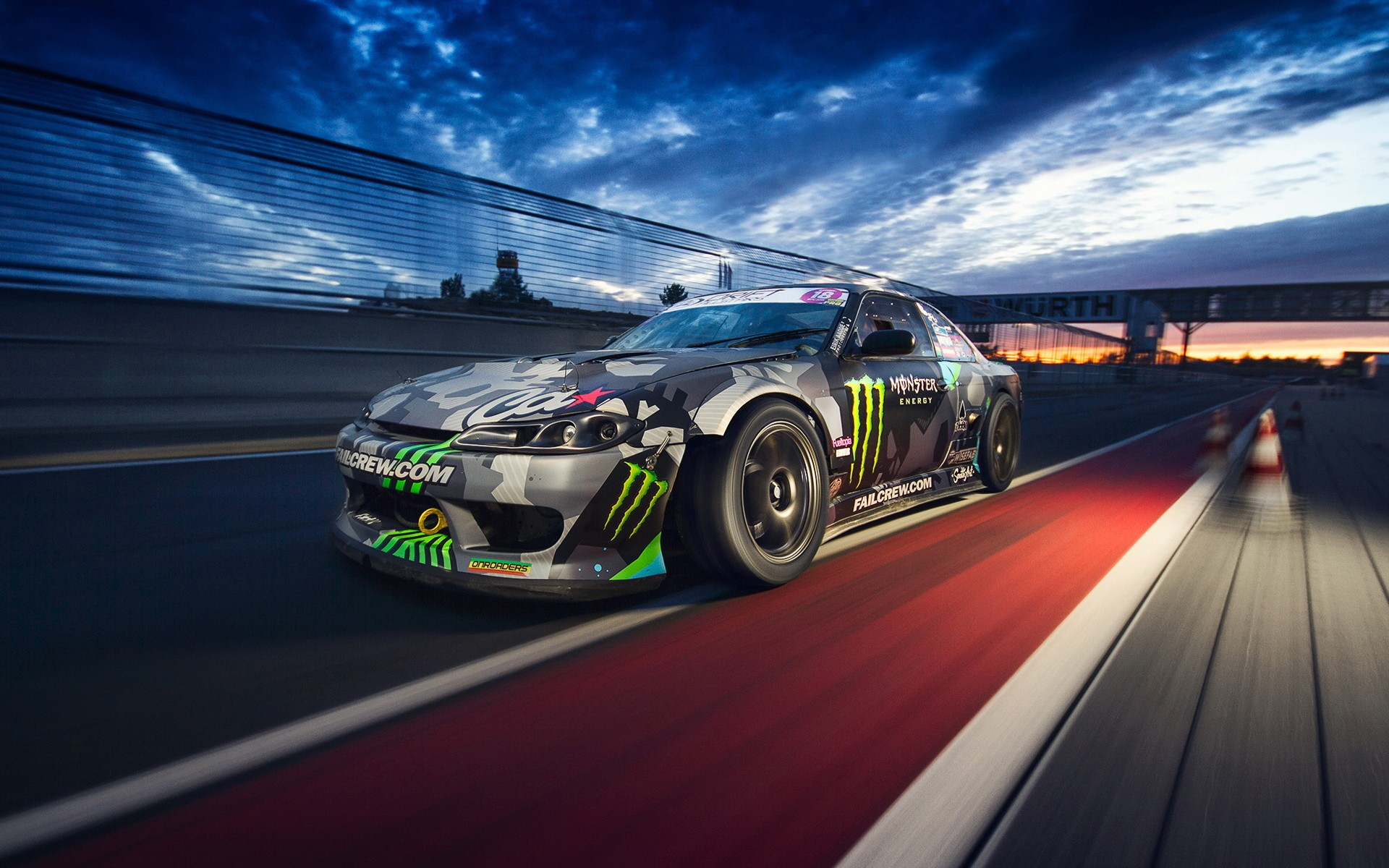 General 1920x1200 car Monster Energy race tracks Silvia Nissan
