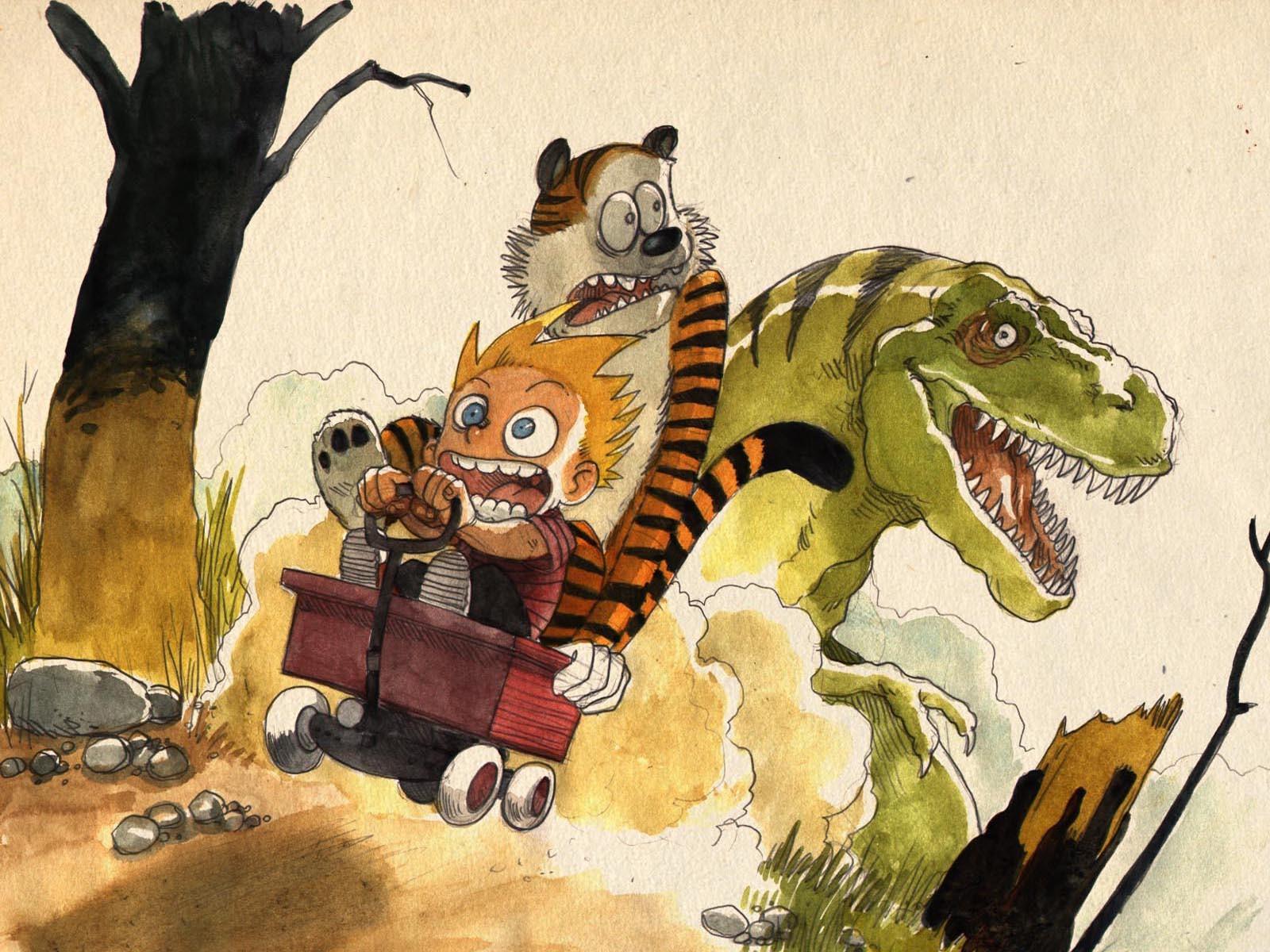 General 1600x1200 Tyrannosaurus rex comics Bill Watterson