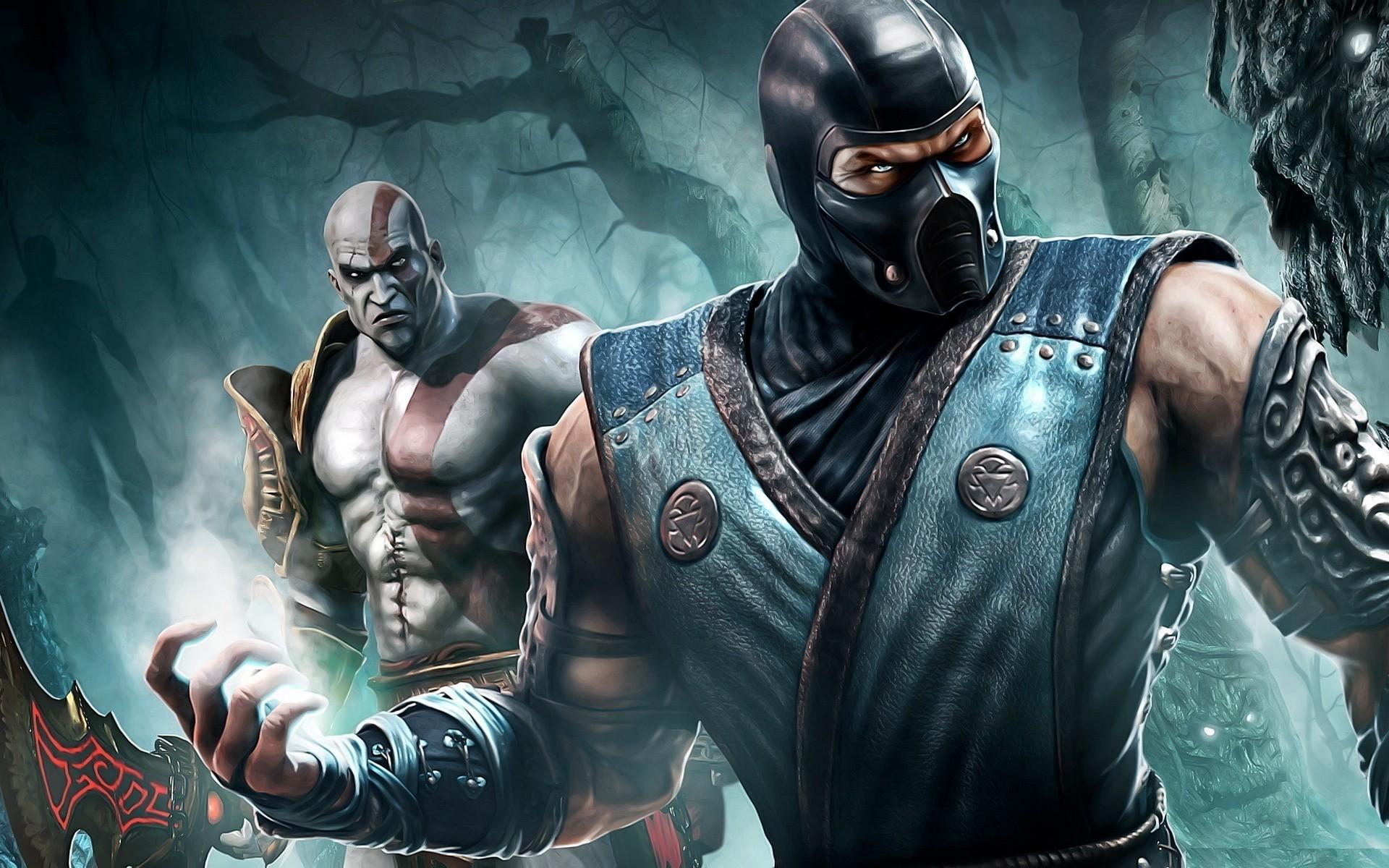 General 1920x1200 video games video game art Mortal Kombat Video Game Warriors Kratos God of War