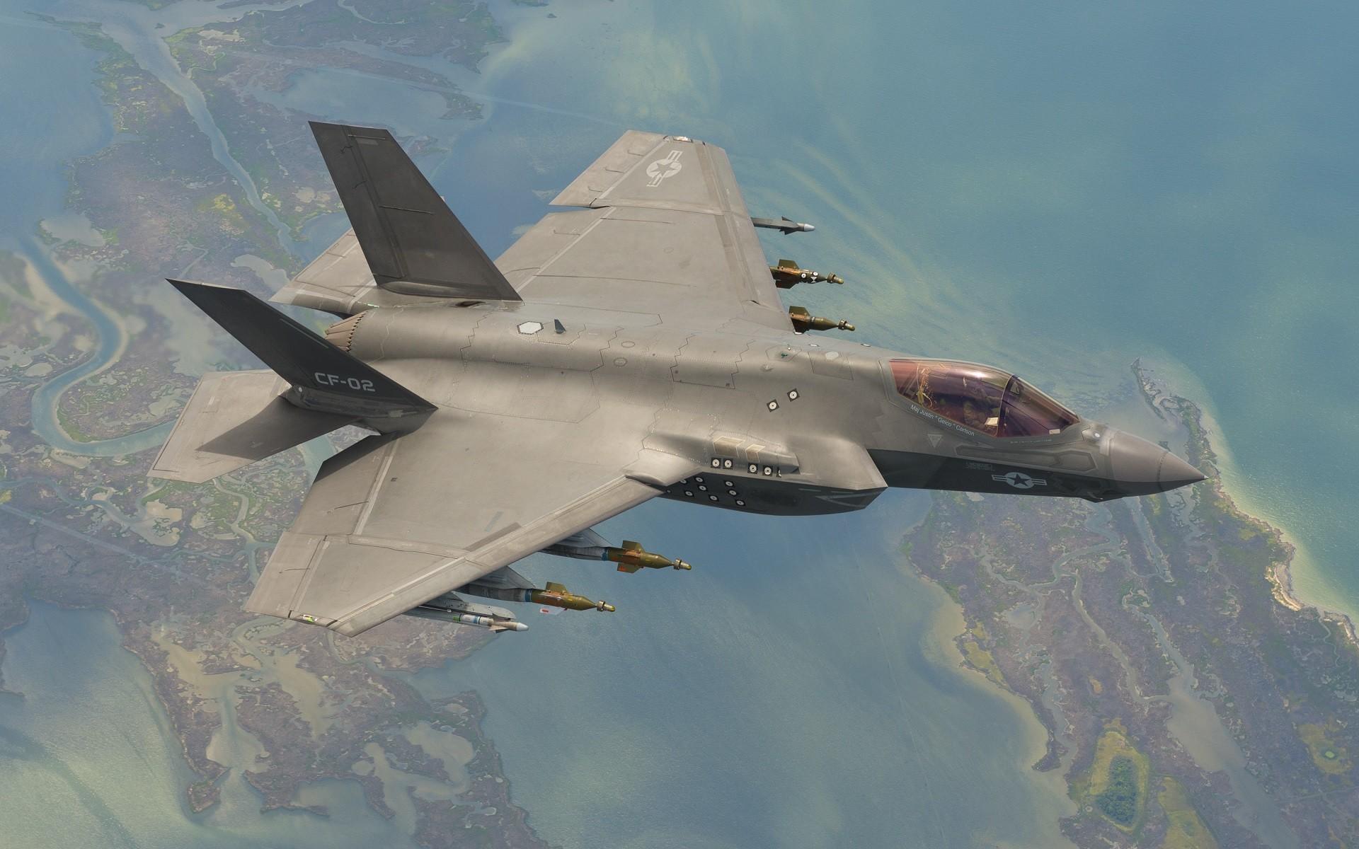 General 1920x1200 aircraft military aircraft landscape Lockheed Martin F-35 Lightning II