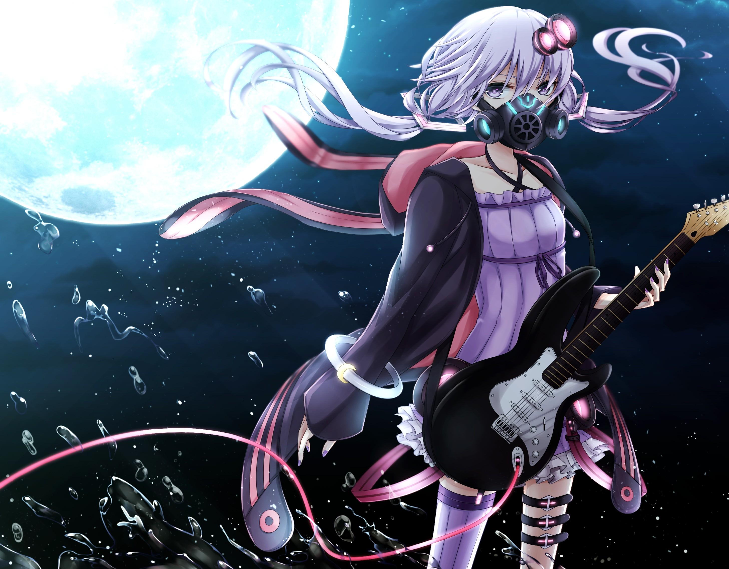 Anime 2913x2276 anime anime girls Vocaloid Yuzuki Yukari Moon