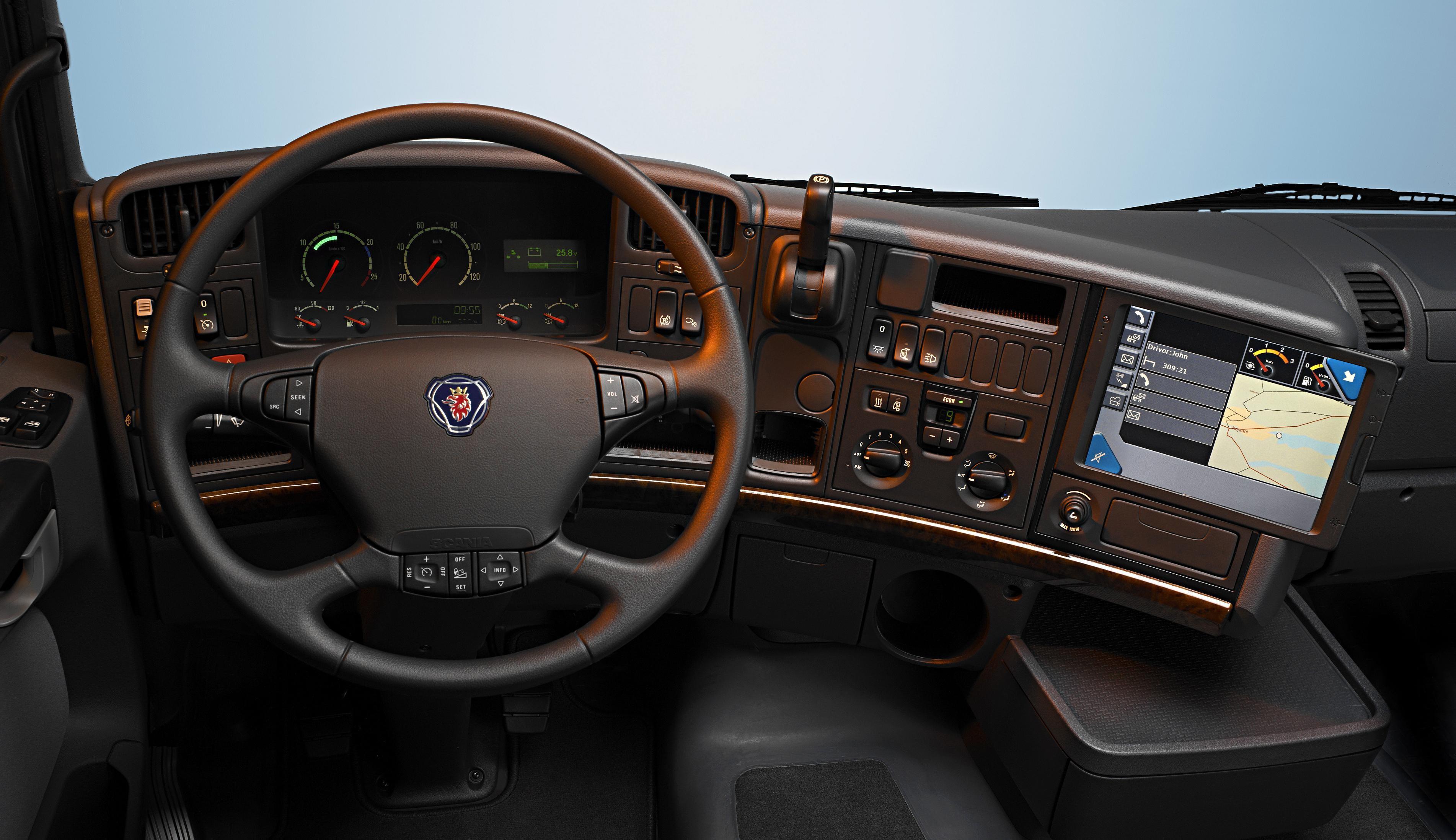 General 3805x2197 Scania truck steering wheel vehicle