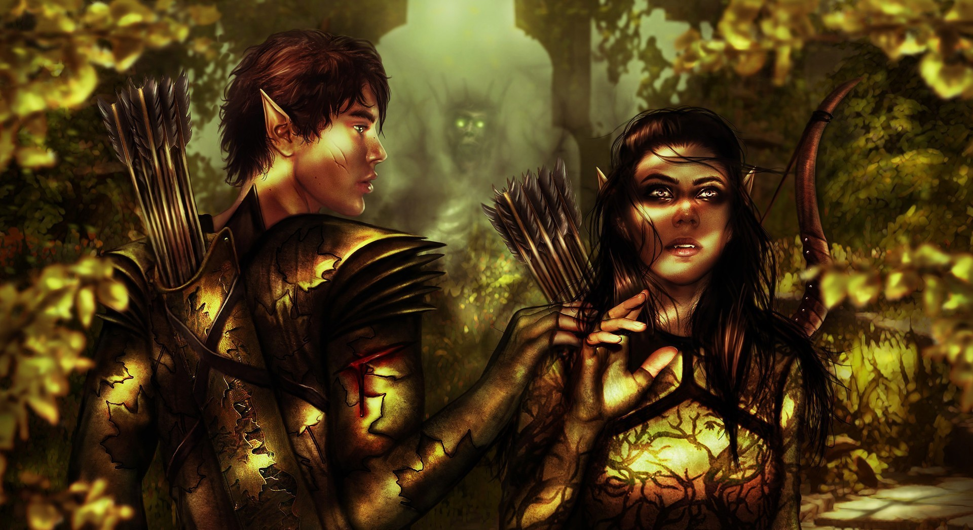 General 1920x1047 fantasy art artwork Fantasy Men fantasy girl elves