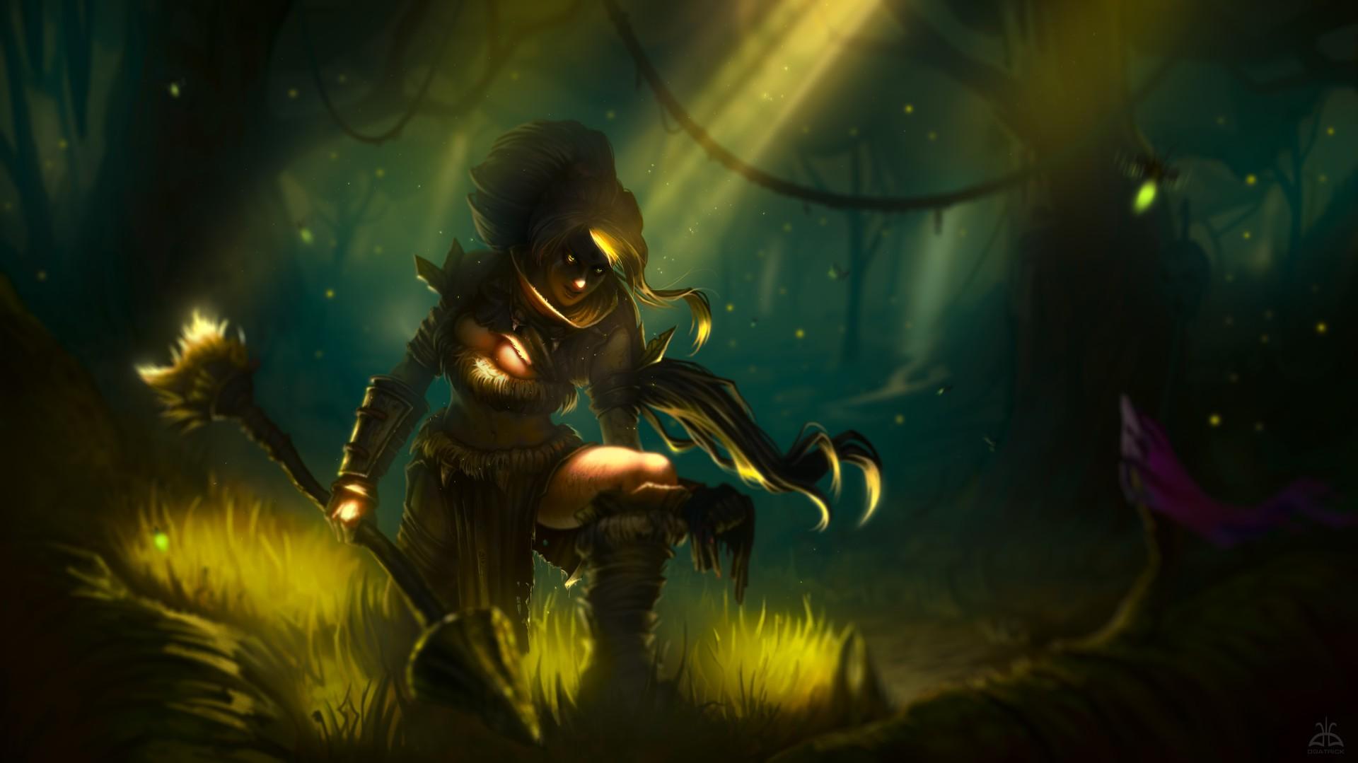 General 1920x1079 League of Legends Nidalee (League of Legends) PC gaming dark fantasy art fantasy girl