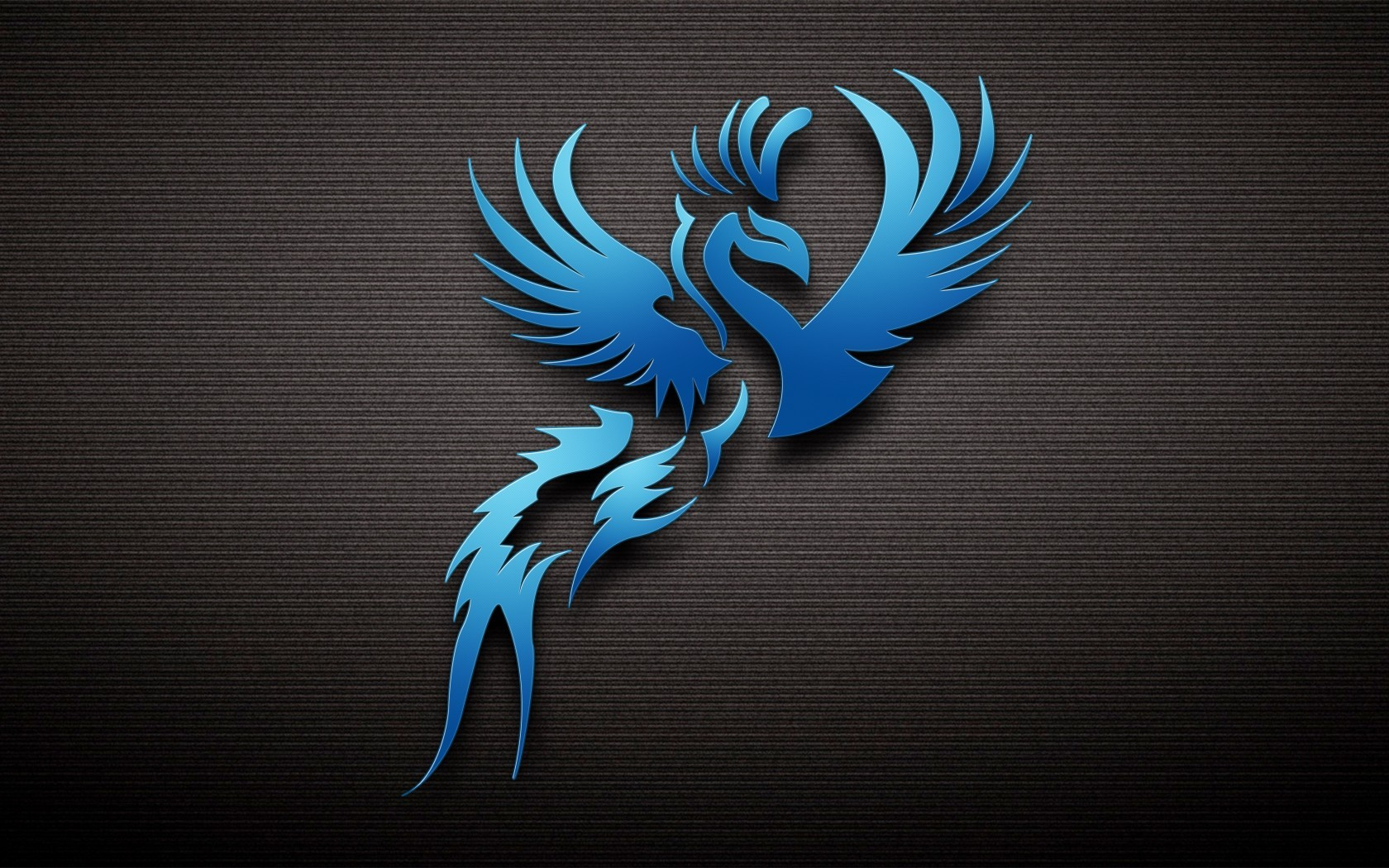 General 1680x1050 phoenix abstract birds simple background blue digital art