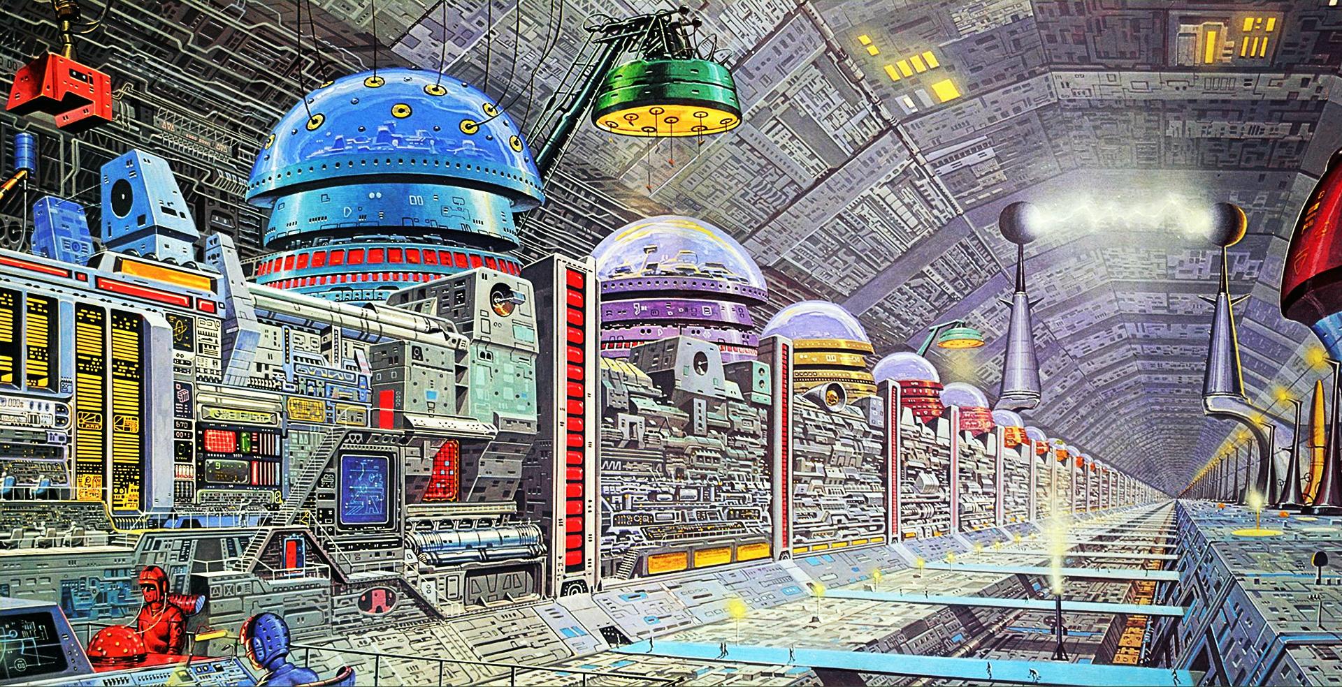 General 1920x984 science fiction computer artwork retro science fiction Angus McKie