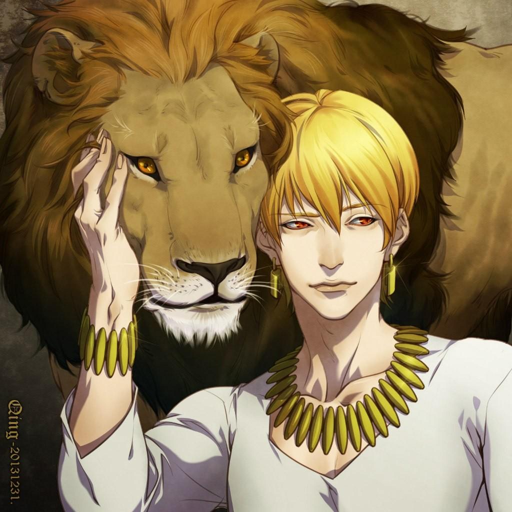 Anime 1024x1024 Fate/Zero Gilgamesh lion
